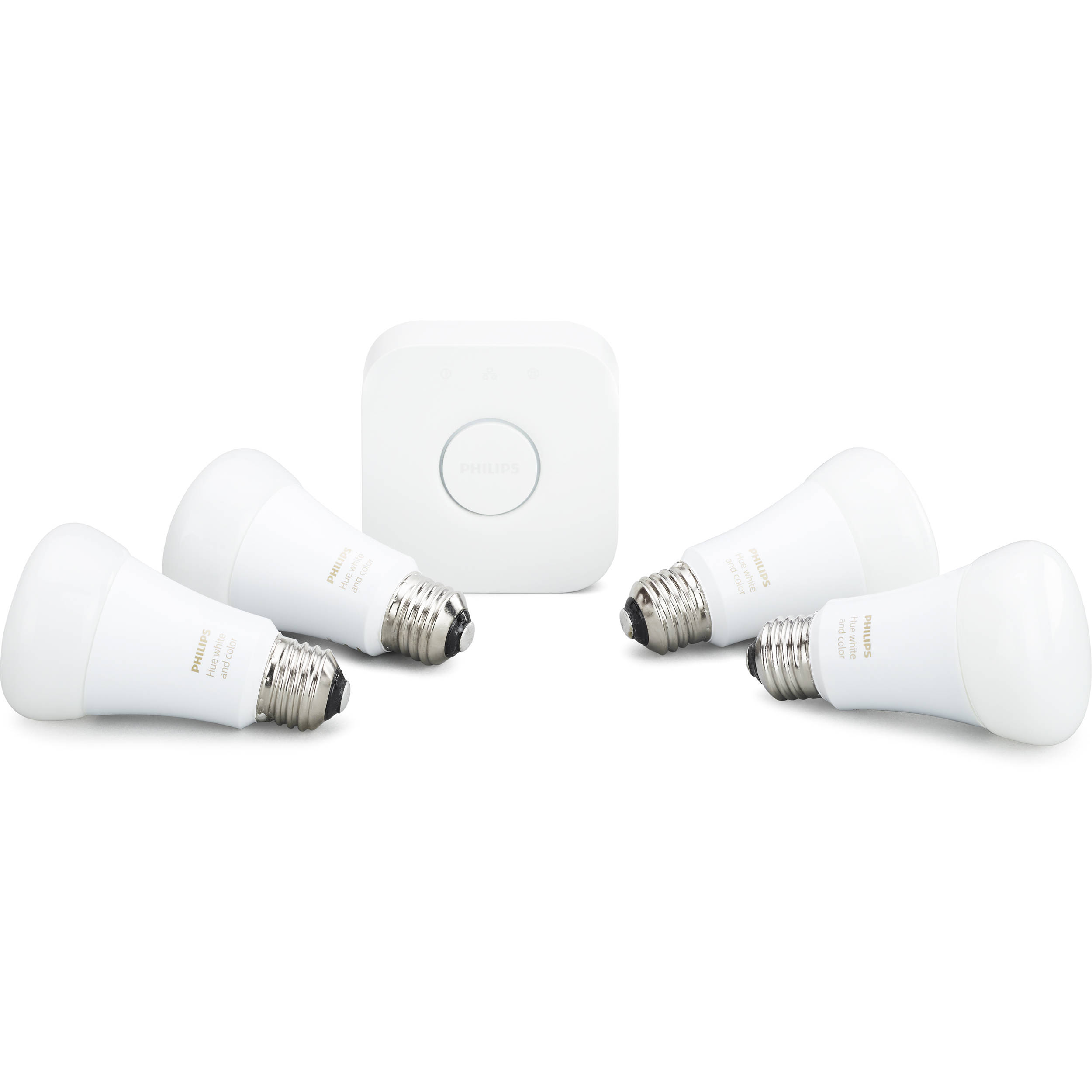 philips hue white and color ambiance a19 starter kit 471960 b h. Black Bedroom Furniture Sets. Home Design Ideas