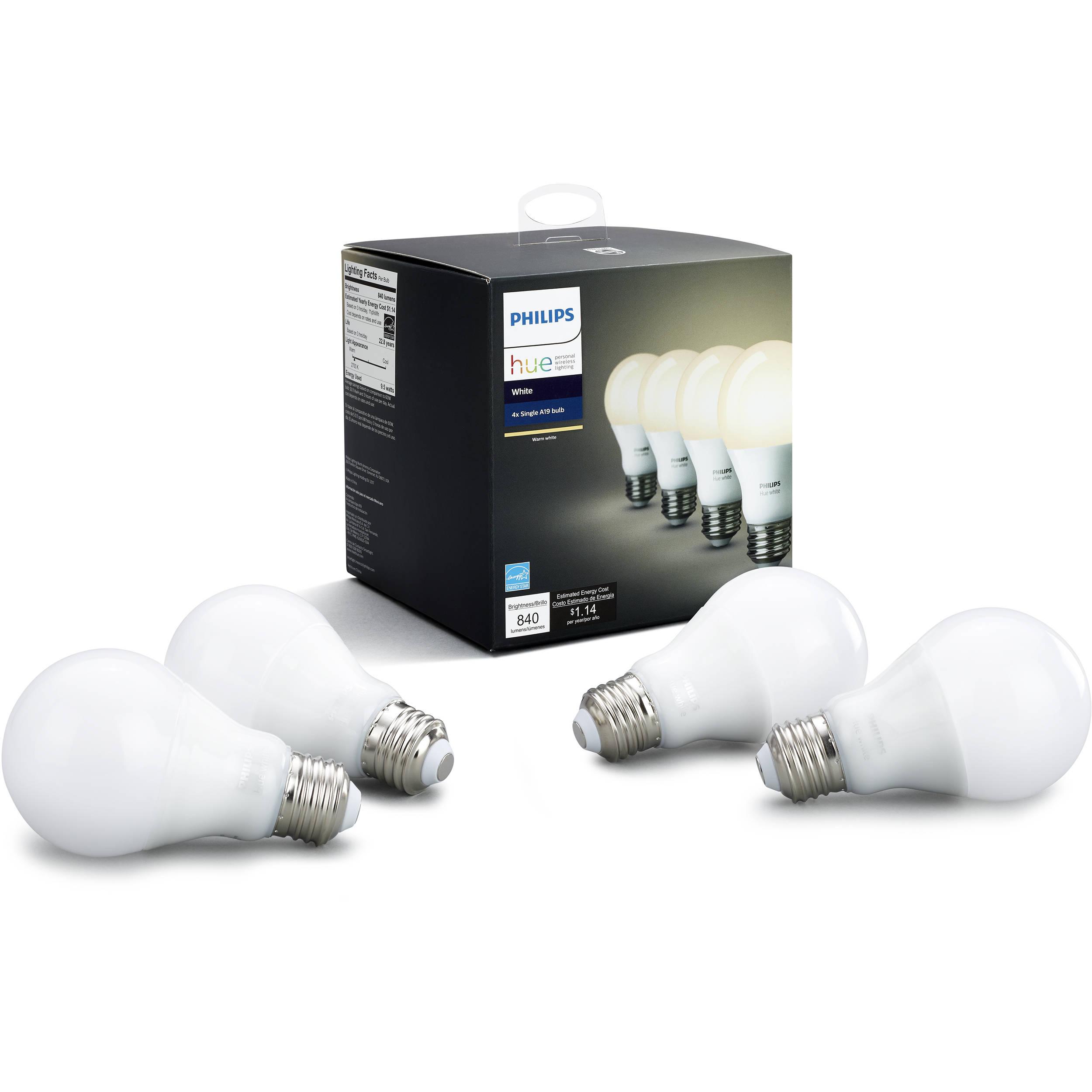 Philips Hue A19 Led Bulb Warm White 4 Pack 472027 Bh Photo Free Ongkir Dry Iron Hi 1172