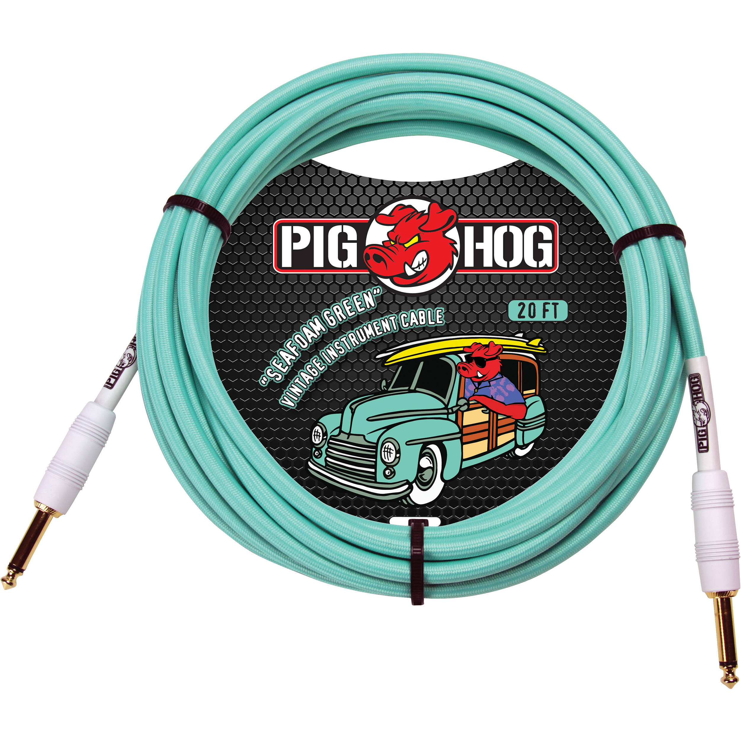 Pig Hog Vintage Series Woven Instrument Cable Pch20sg B Amp H