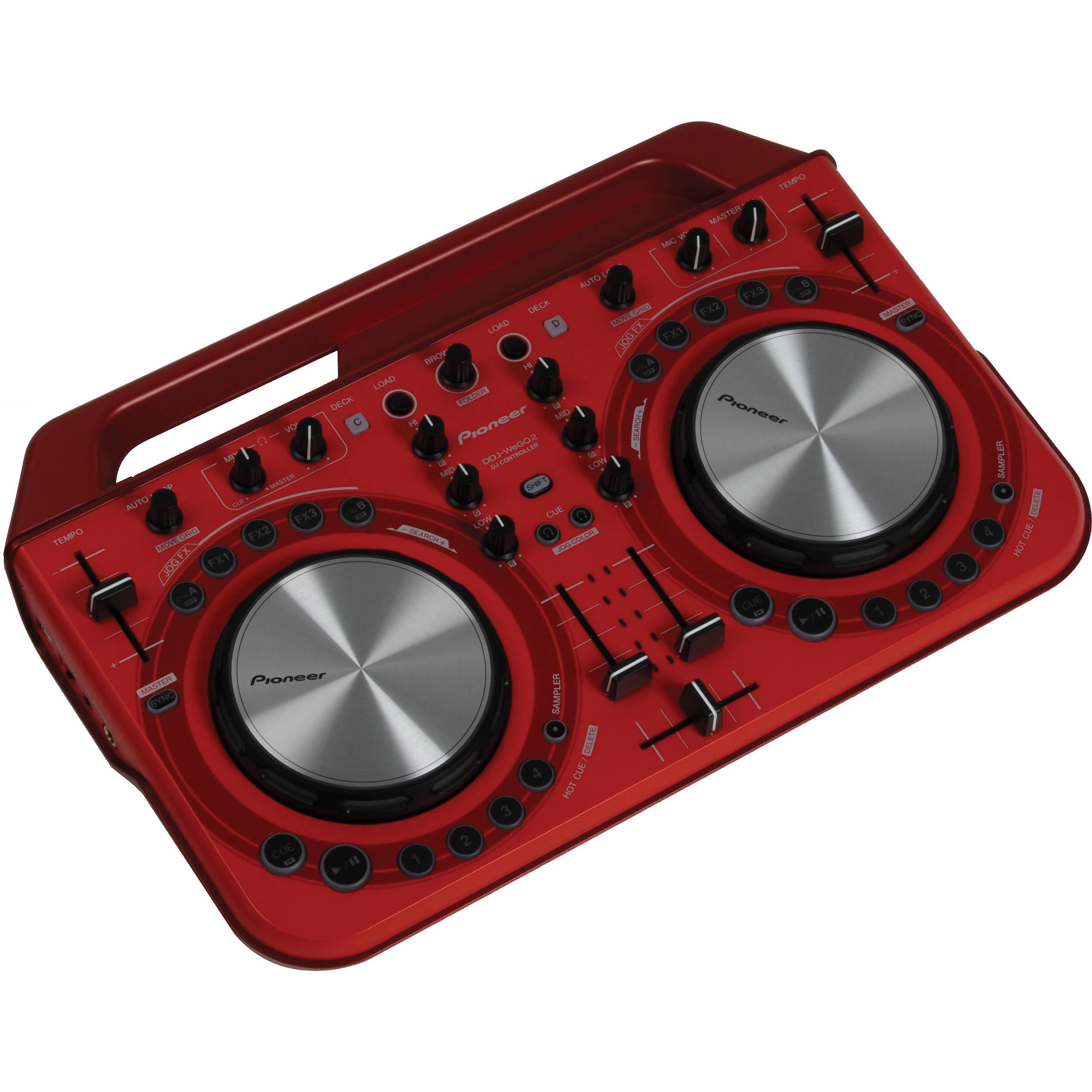 Pioneer DDJ-WeGO2 Digital DJ Controller (Red) DDJ-WEGO2-R B&H