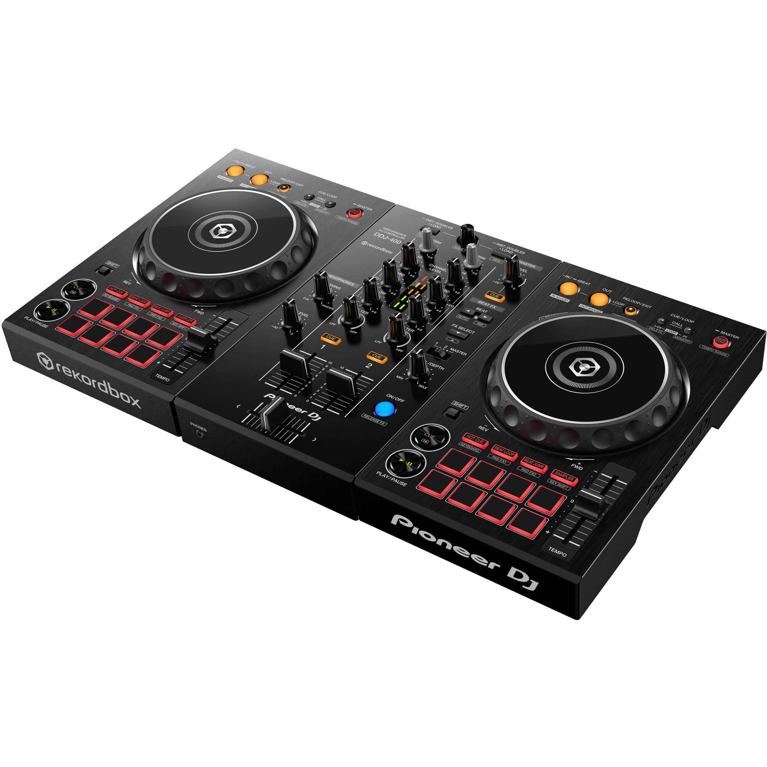 Pioneer DJ DDJ-400 Portable 2-Channel rekordbox DJ DDJ-400 B H 23a727e266