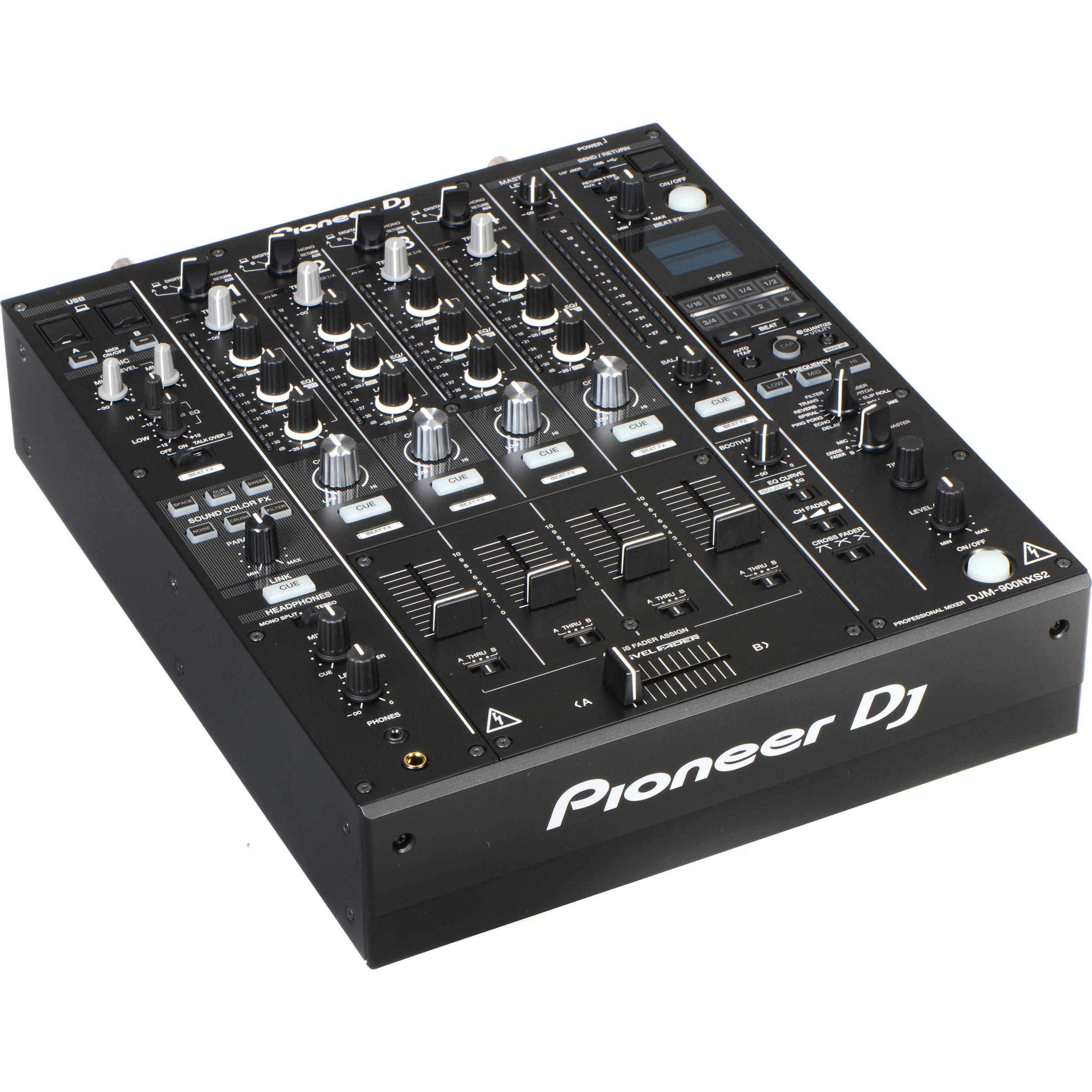 Pioneer DJ DJM-900NXS2 4-Channel Digital Pro-DJ Mixer (Black)