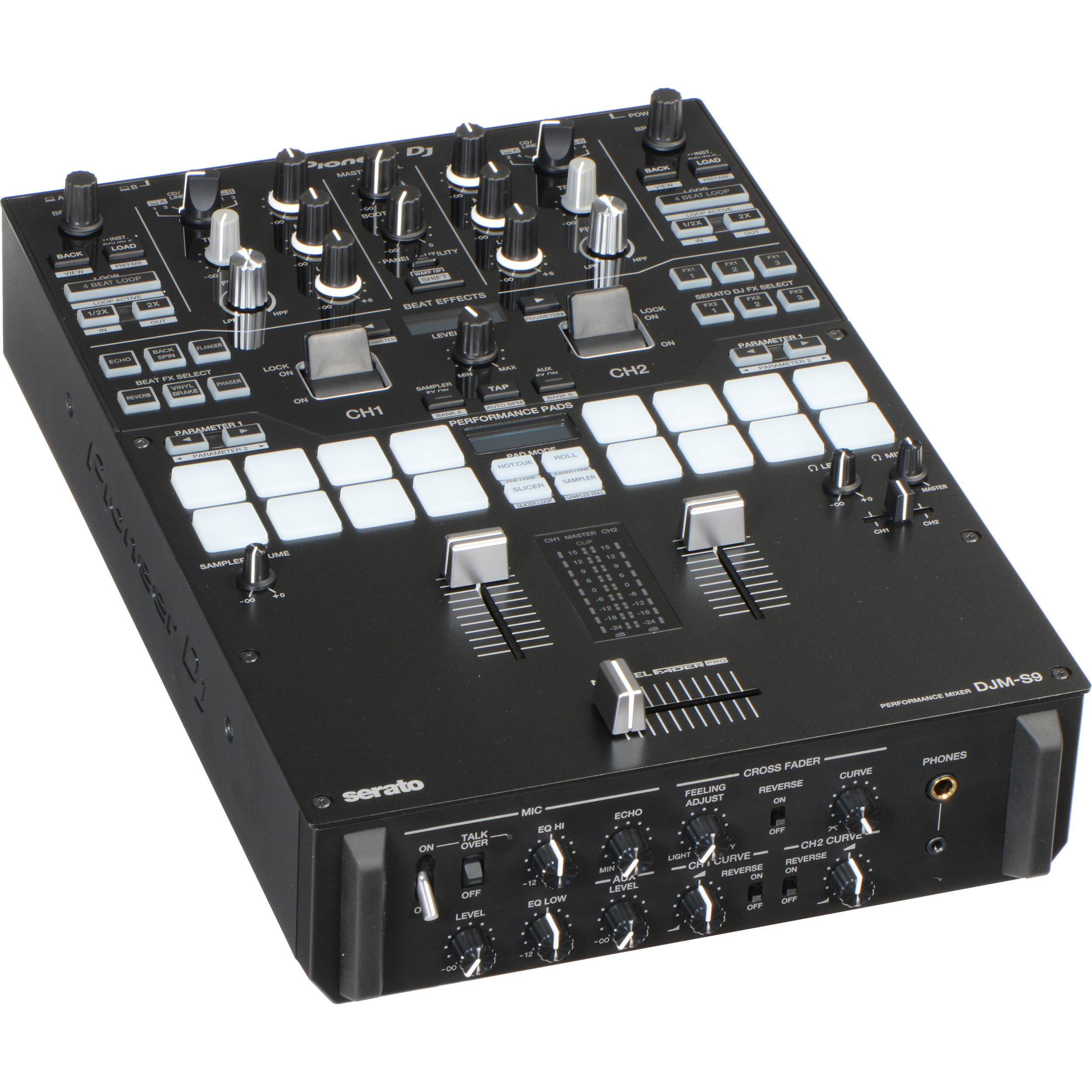 pioneer dj djm s9 professional 2 channel battle mixer djm s9 b h. Black Bedroom Furniture Sets. Home Design Ideas