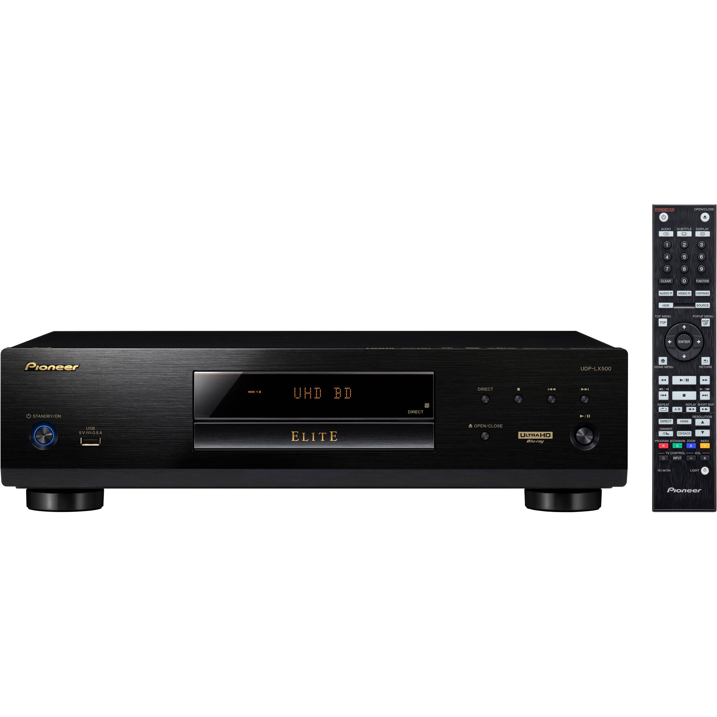 Pioneer Elite UDP-LX500 HDR UHD 4K Blu-ray Disc Player UDP