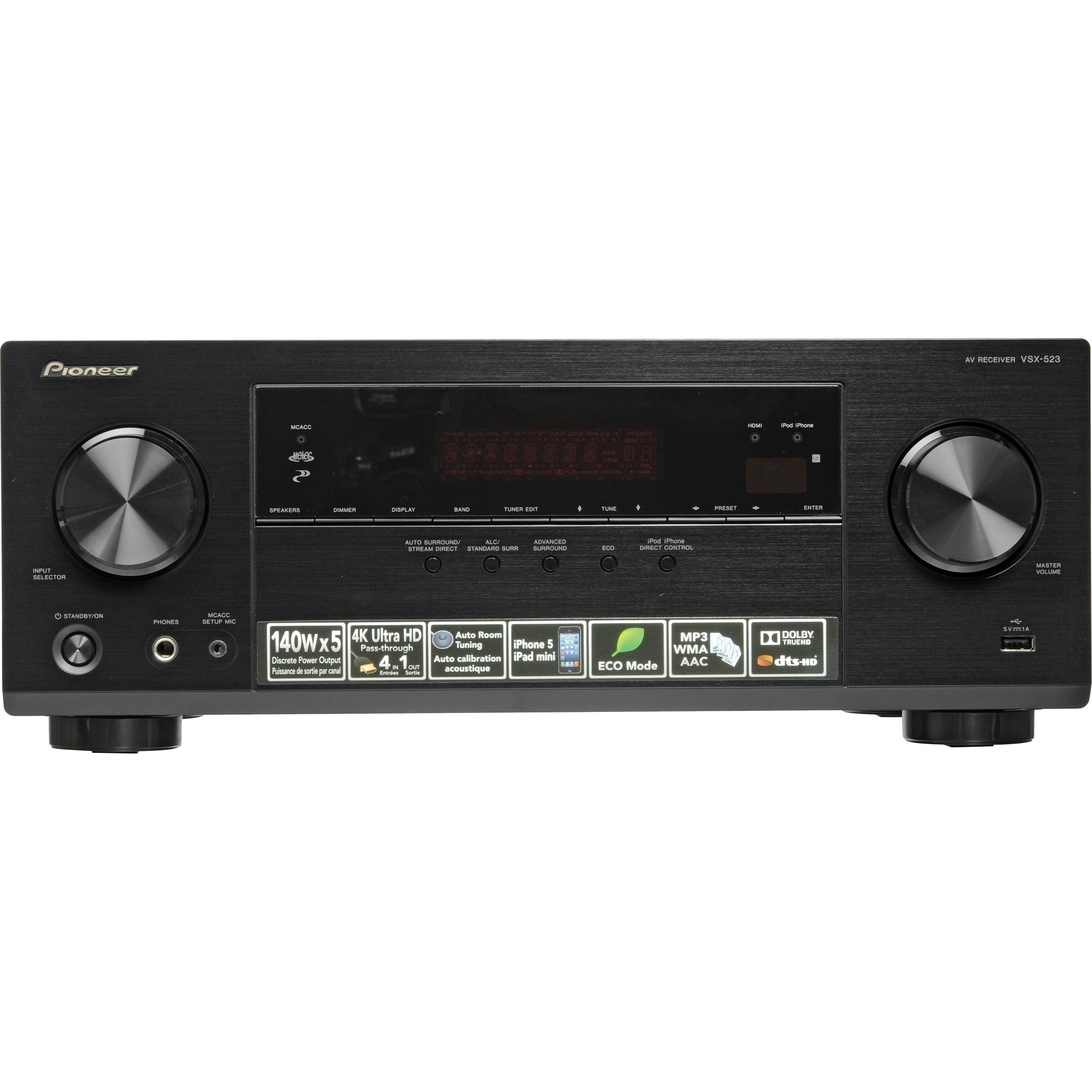pioneer receiver vsx 522 review