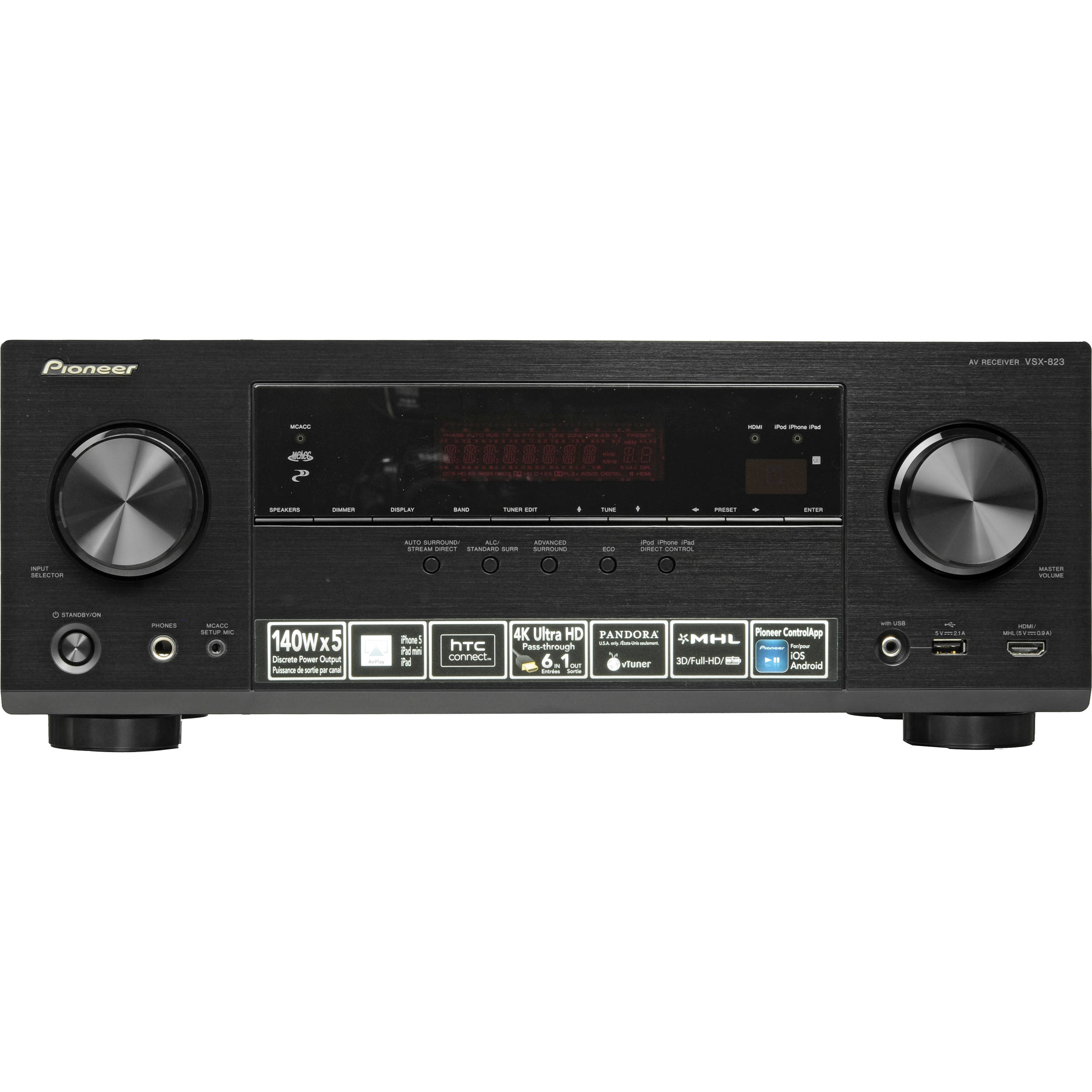 Pioneer VSX-823-K 5.1-Channel Network Ready AV Receiver