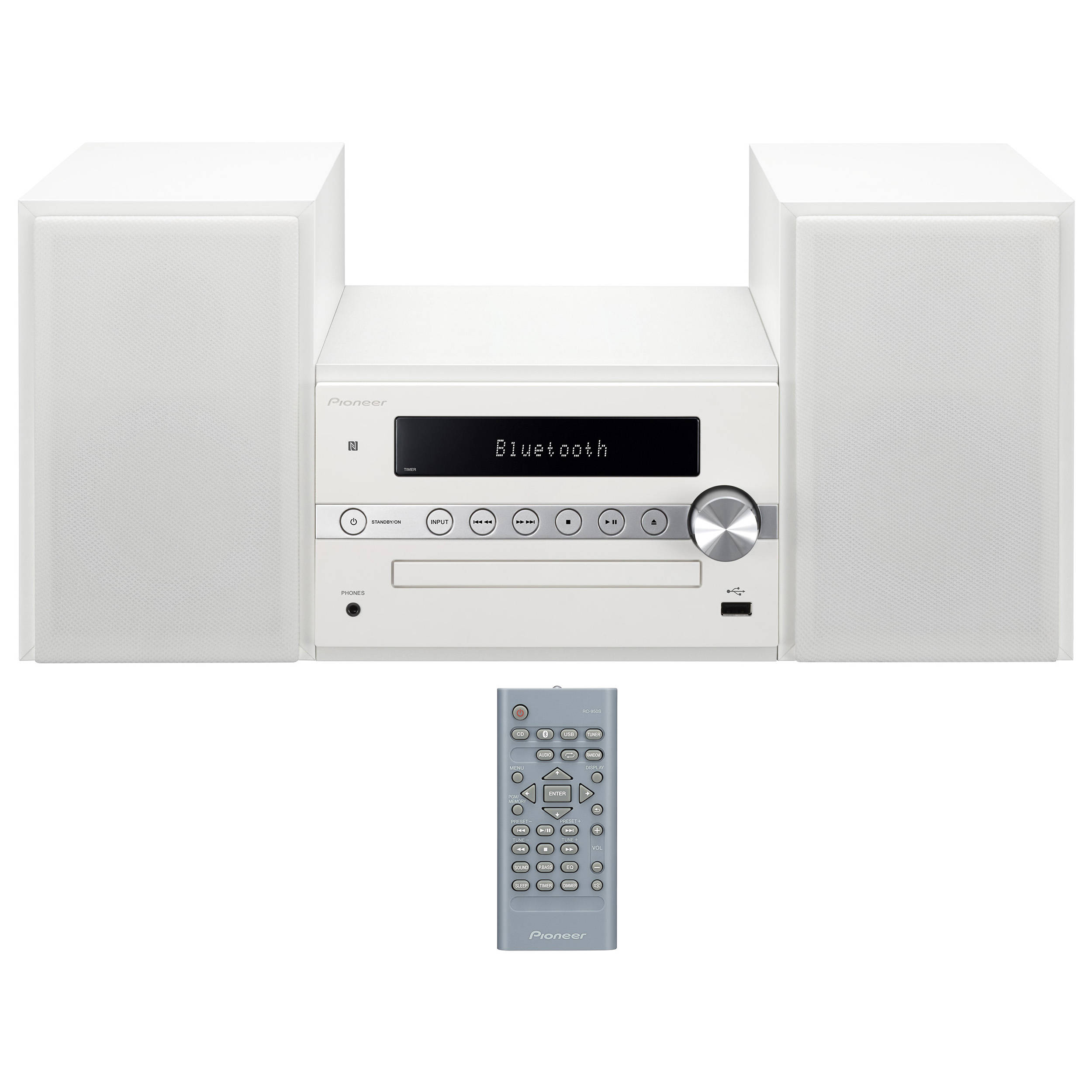 Pioneer X CM56W 30W Bluetooth Wireless Music System White