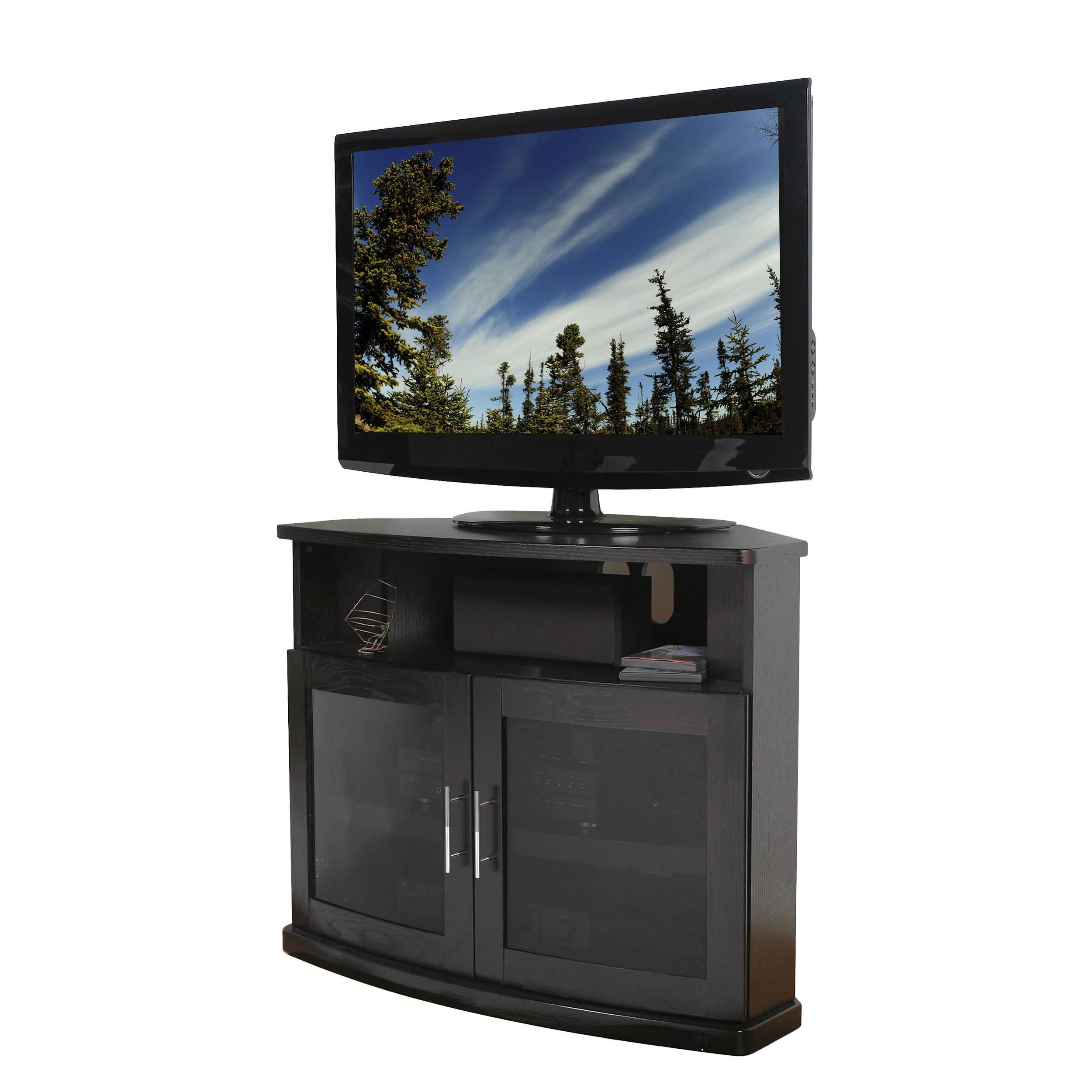 Plateau Newport 40 Corner Tv Stand Black Oak Newport 40 B