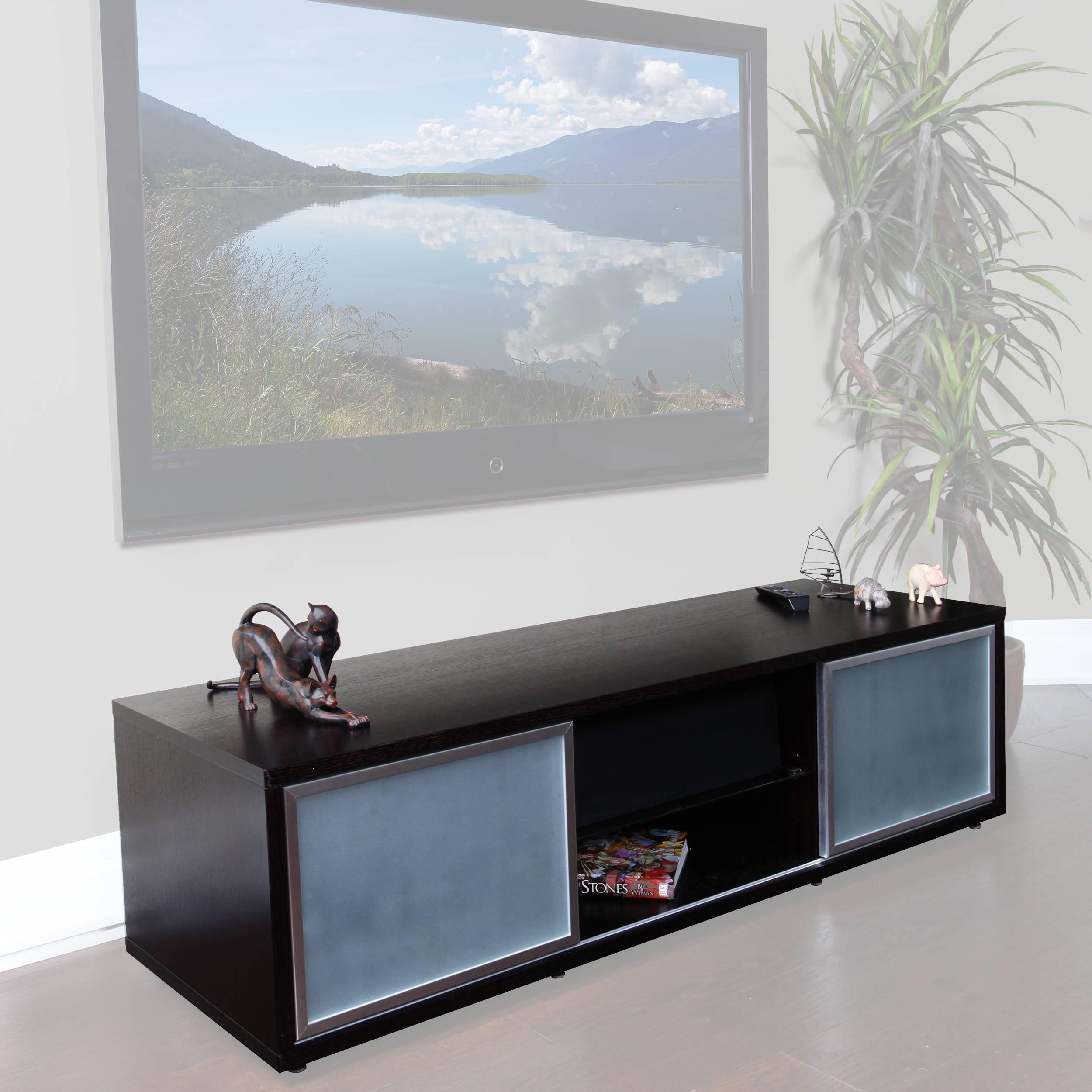 Plateau Sr V65 Wood And Glass 65 Tv Stand Sr V 65 Eb S