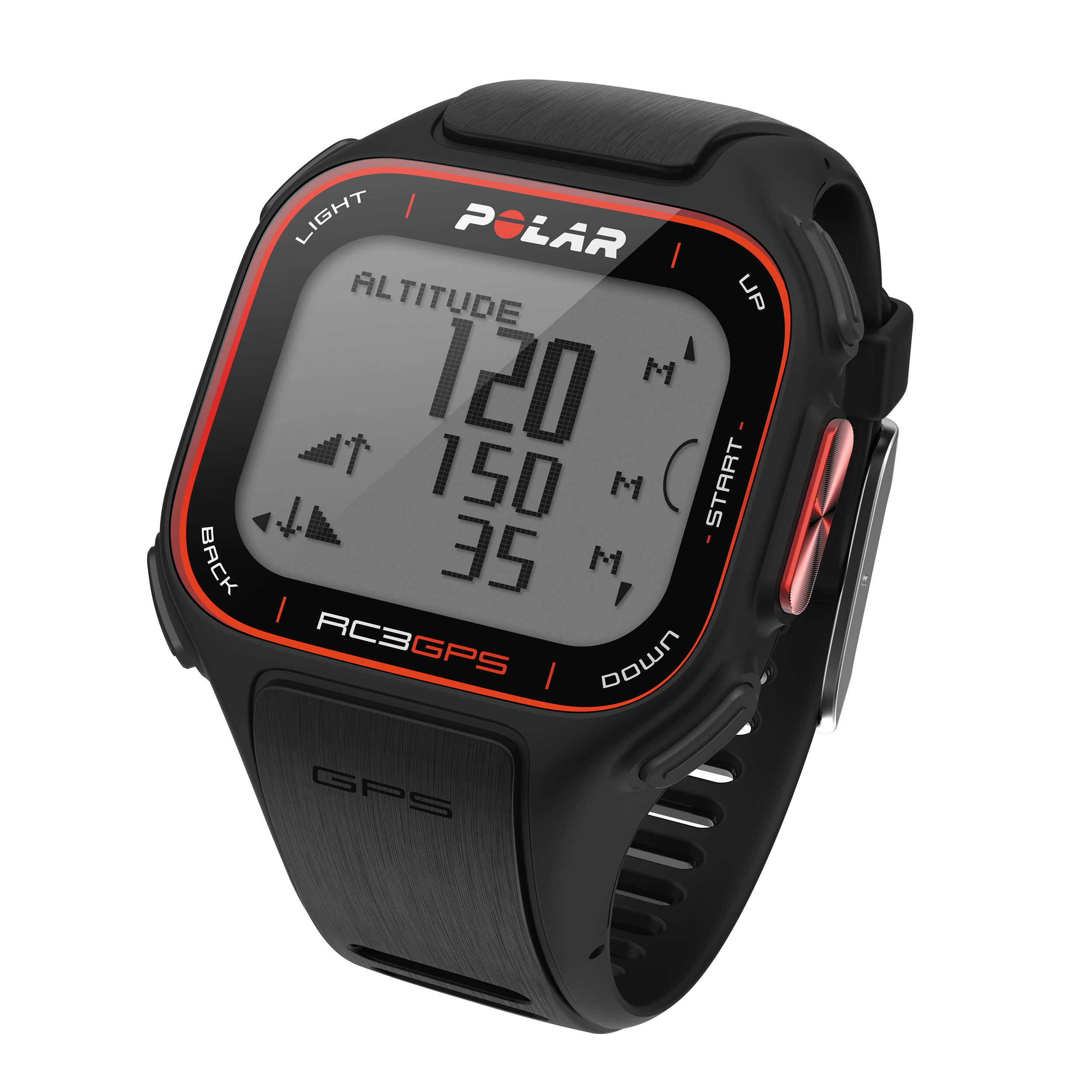 Polar rc3 gps fitness watch with heart rate monitor 90051070 b h for Watches with gps