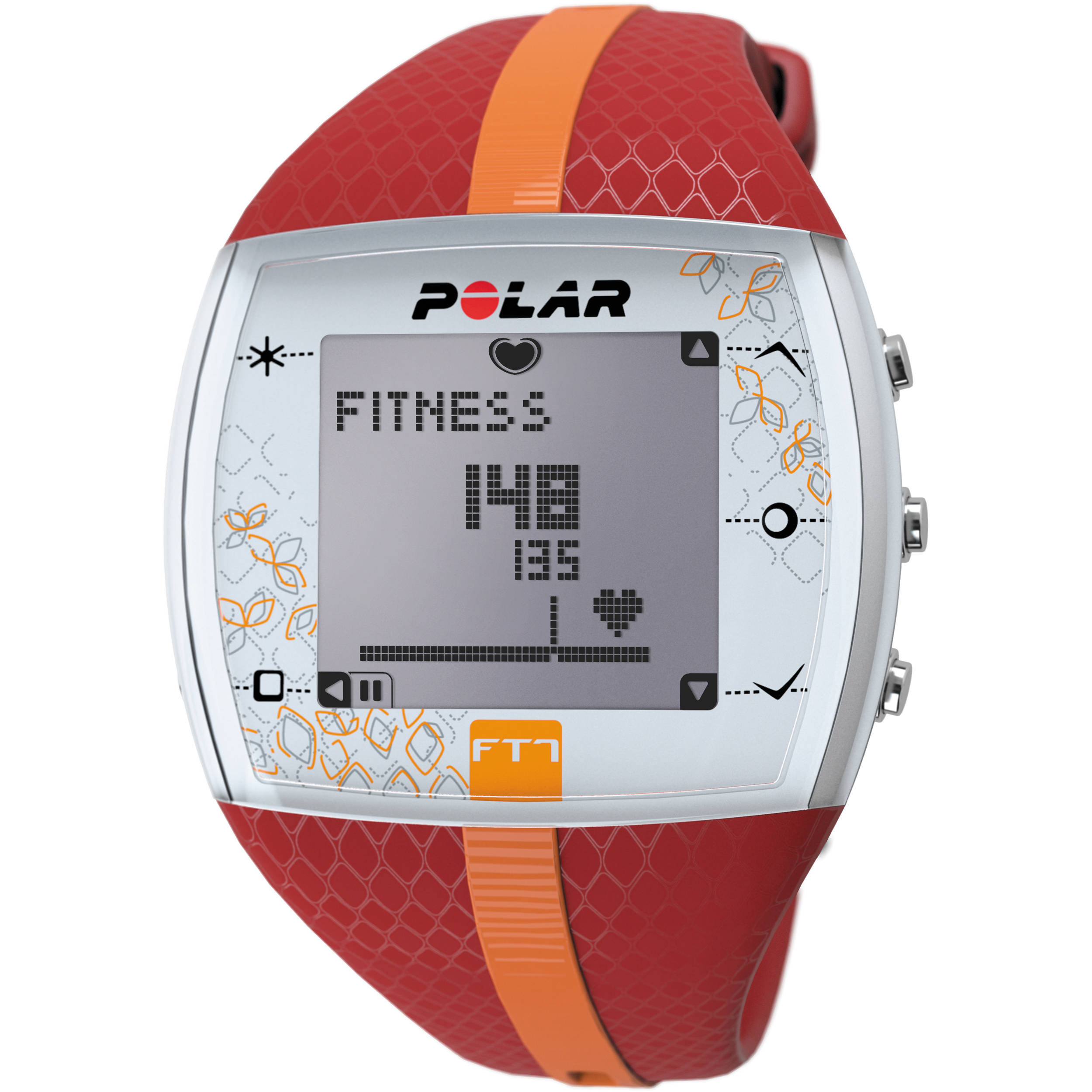 Polar FT7 Training Computer Watch (Red/Orange)