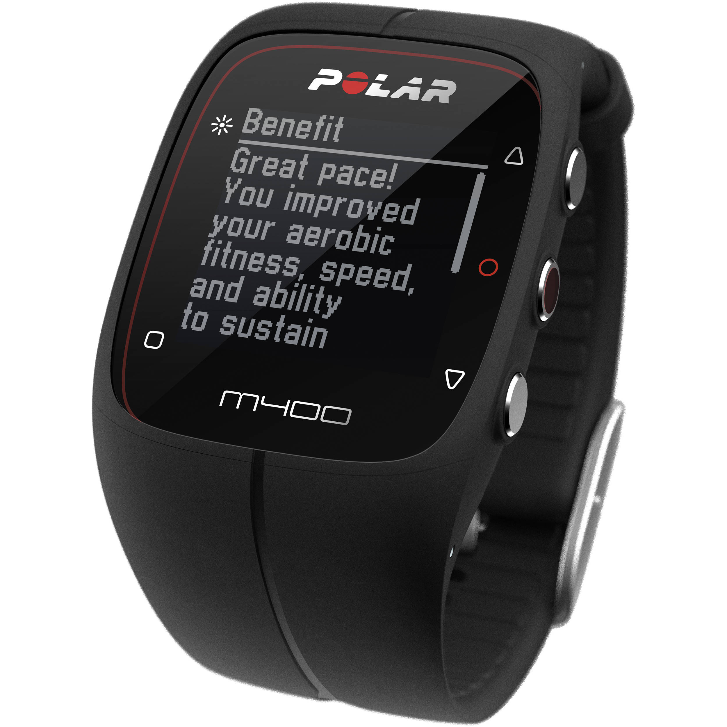 Polar M400 Sports Watch with GPS & Heart Rate 90051339 B&H