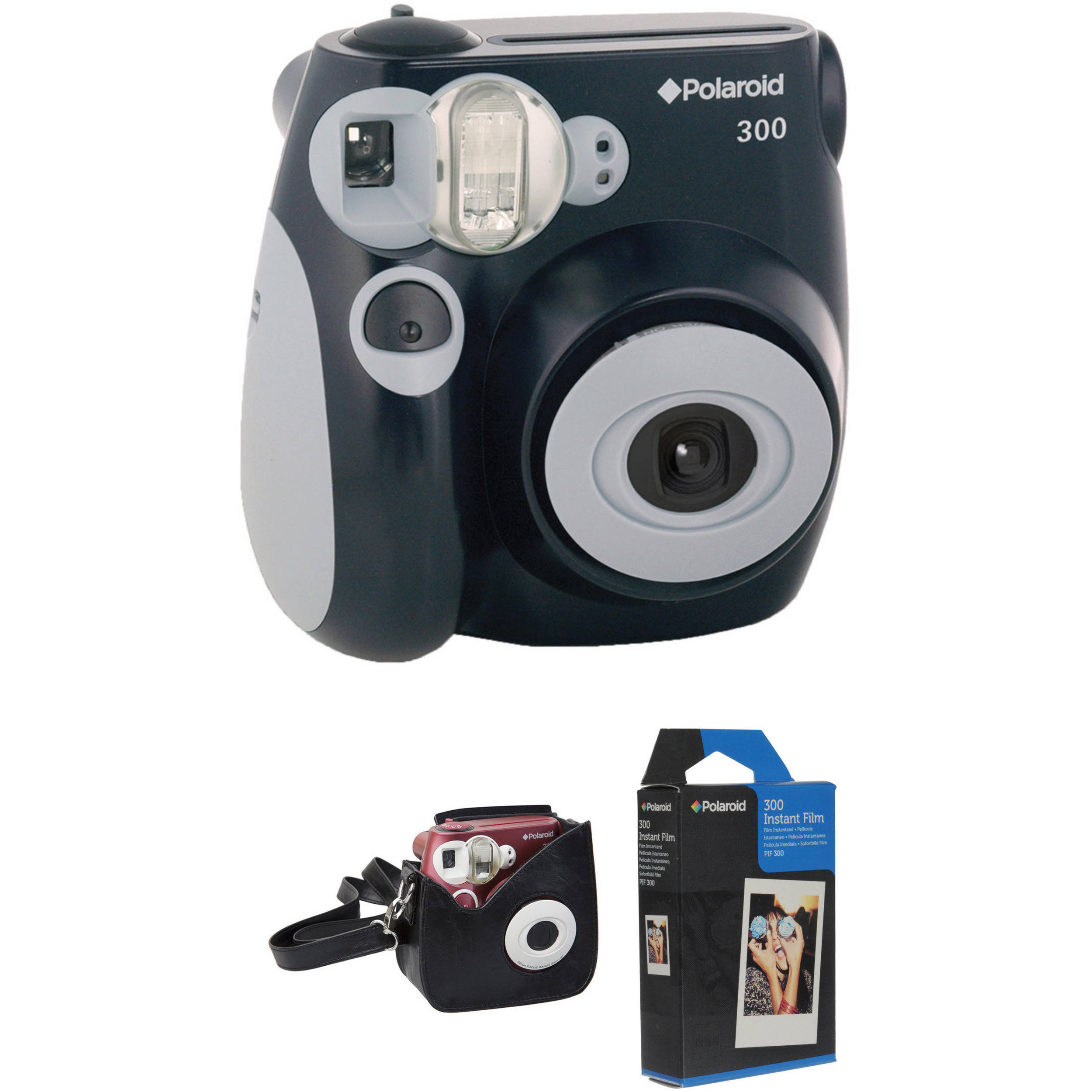 Polaroid 300 Instant Film Camera with Carrying Case and Film B&H
