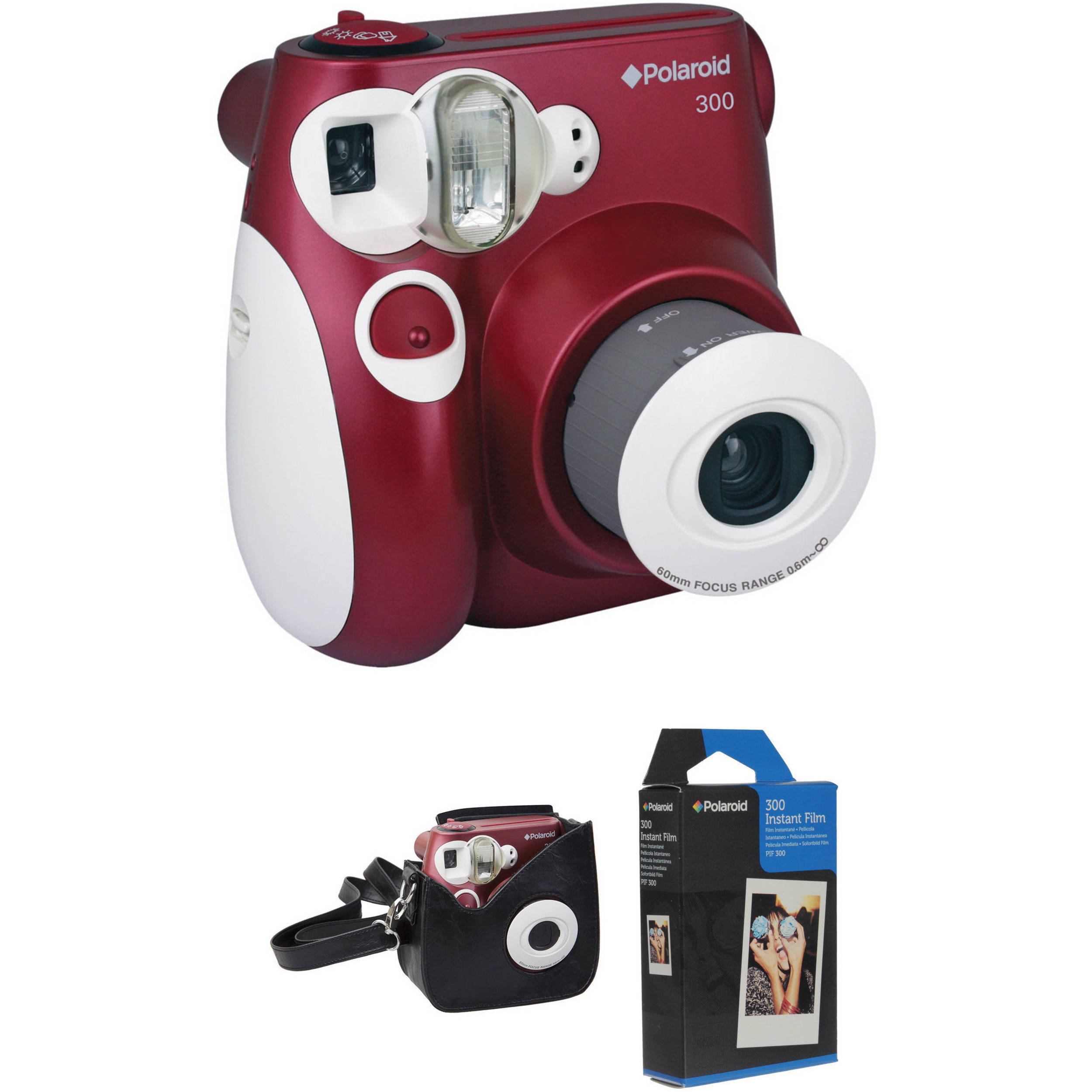 polaroid 300 instant film camera with carrying case and film b h. Black Bedroom Furniture Sets. Home Design Ideas