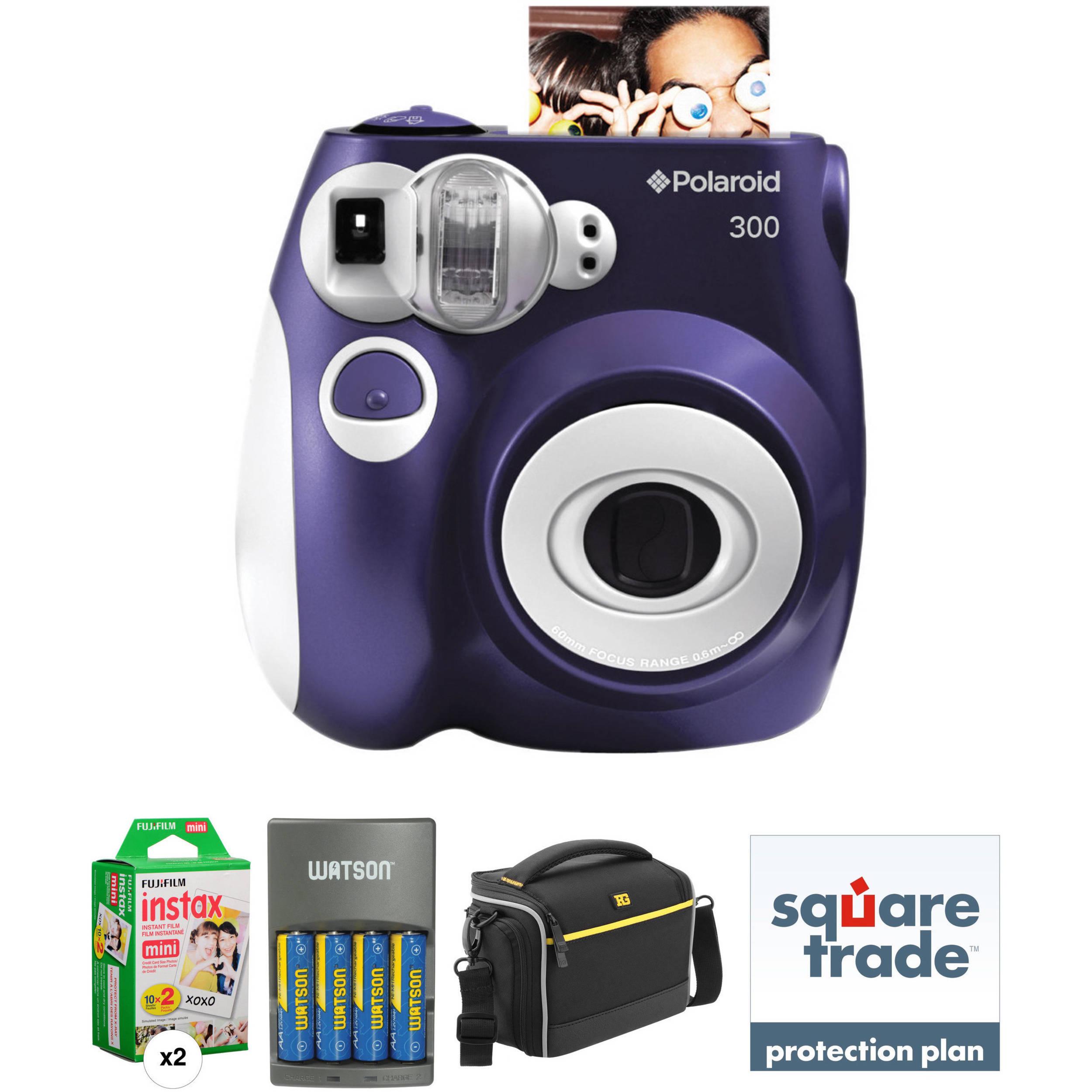 Polaroid Pic 300 Instant Film Camera Basic Kit Purple