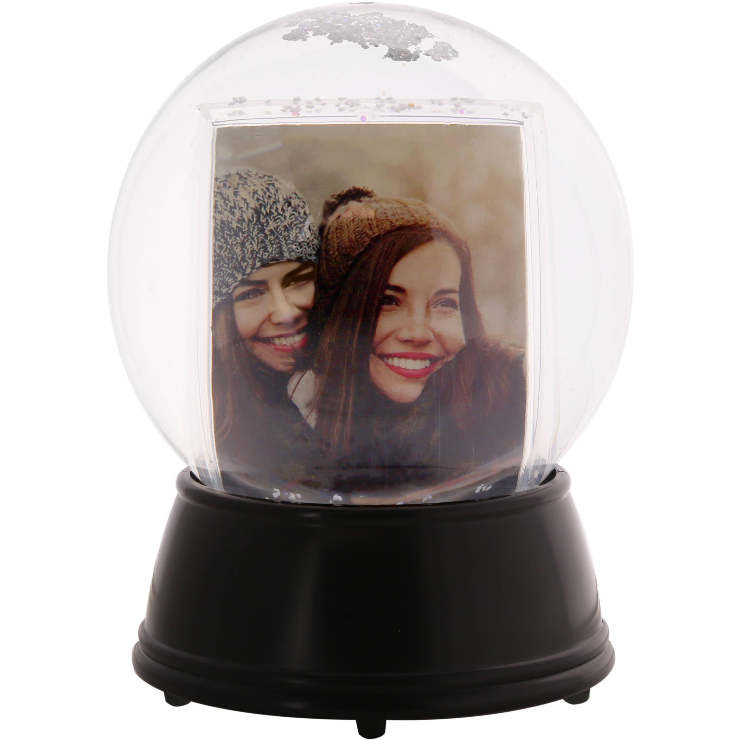 Polaroid LED Light-Up Snow Globe Photo Frame PL2X3SGSLED B&H