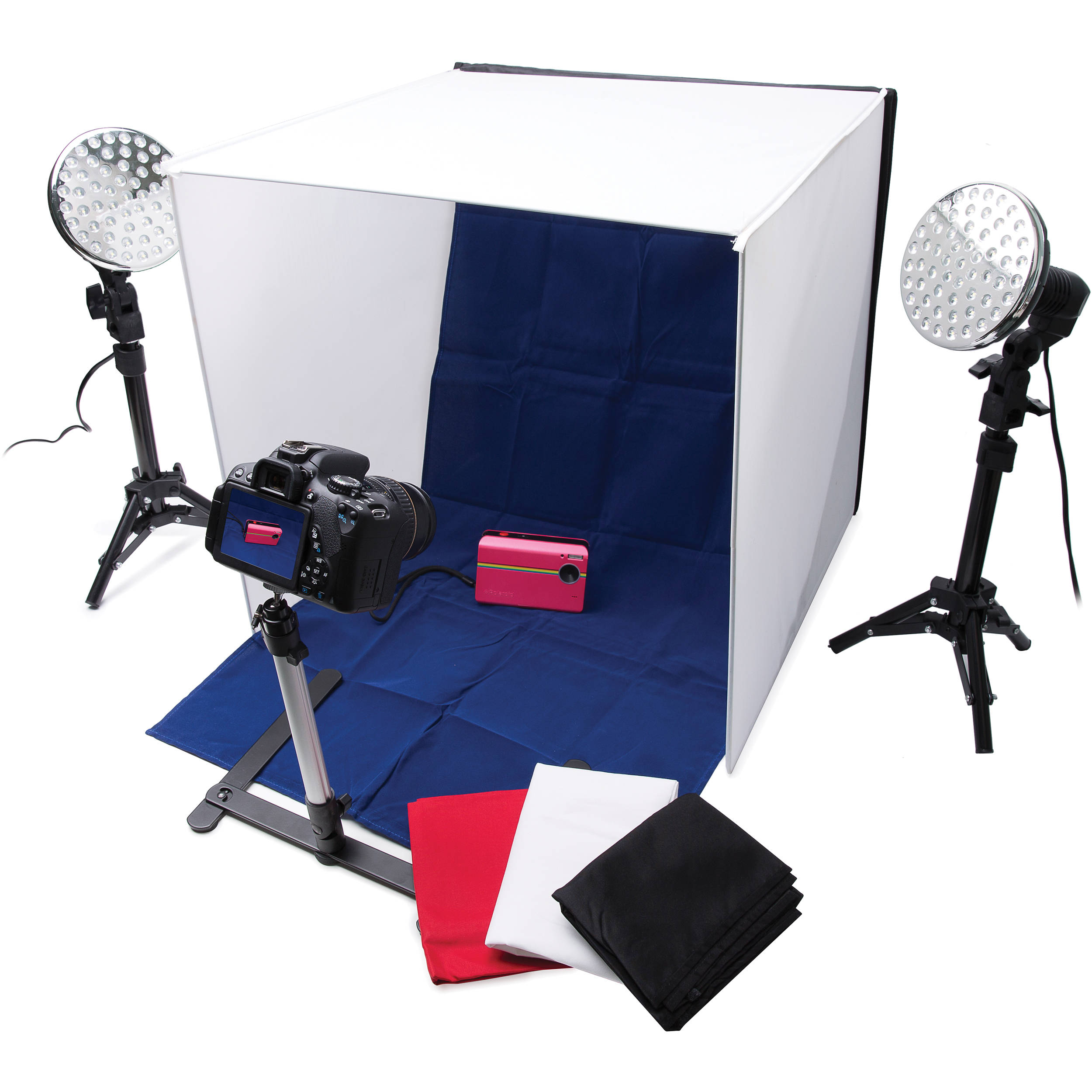 polaroid pro table top photo studio kit plpsled b h photo. Black Bedroom Furniture Sets. Home Design Ideas