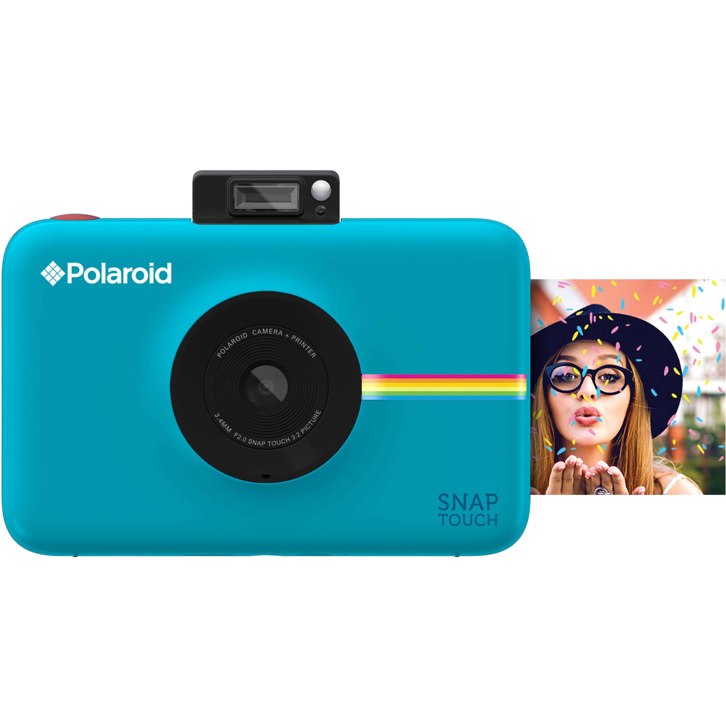 Polaroid Snap Touch Instant Digital Camera Blue Polstbl B Amp H