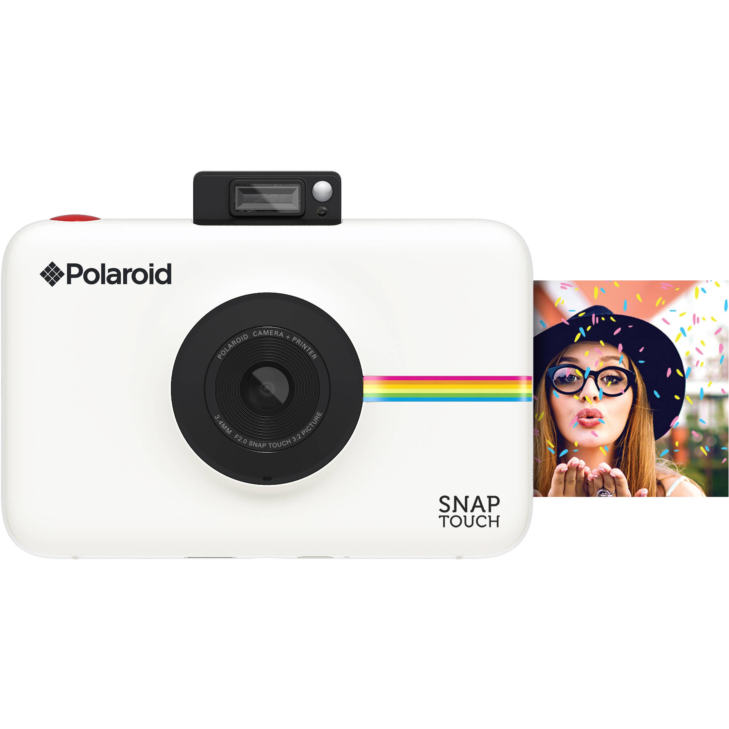 f61e3722aee67 Polaroid Snap Touch Instant Digital Camera (White) POLSTW B H
