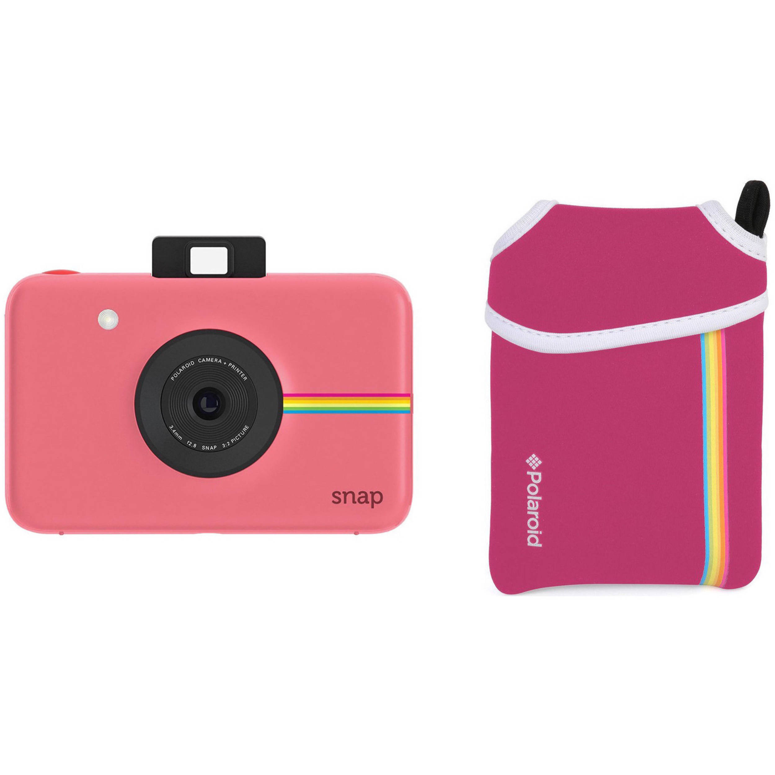 cb8e90a5dabf Polaroid Snap Instant Digital Camera with Pouch Kit (Pink) B&H