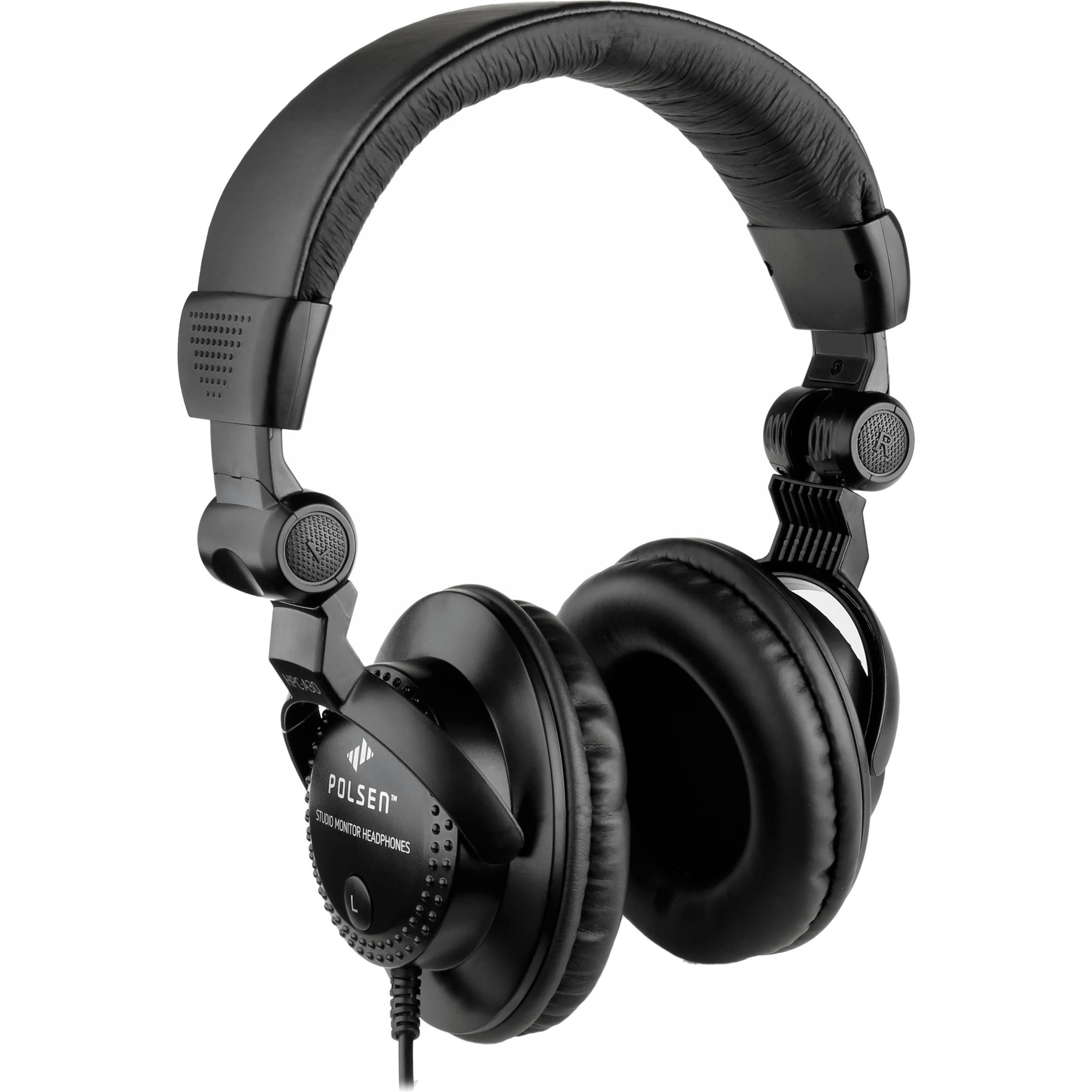 polsen hpc a30 closed back studio monitor headphones hpc a30 b h. Black Bedroom Furniture Sets. Home Design Ideas