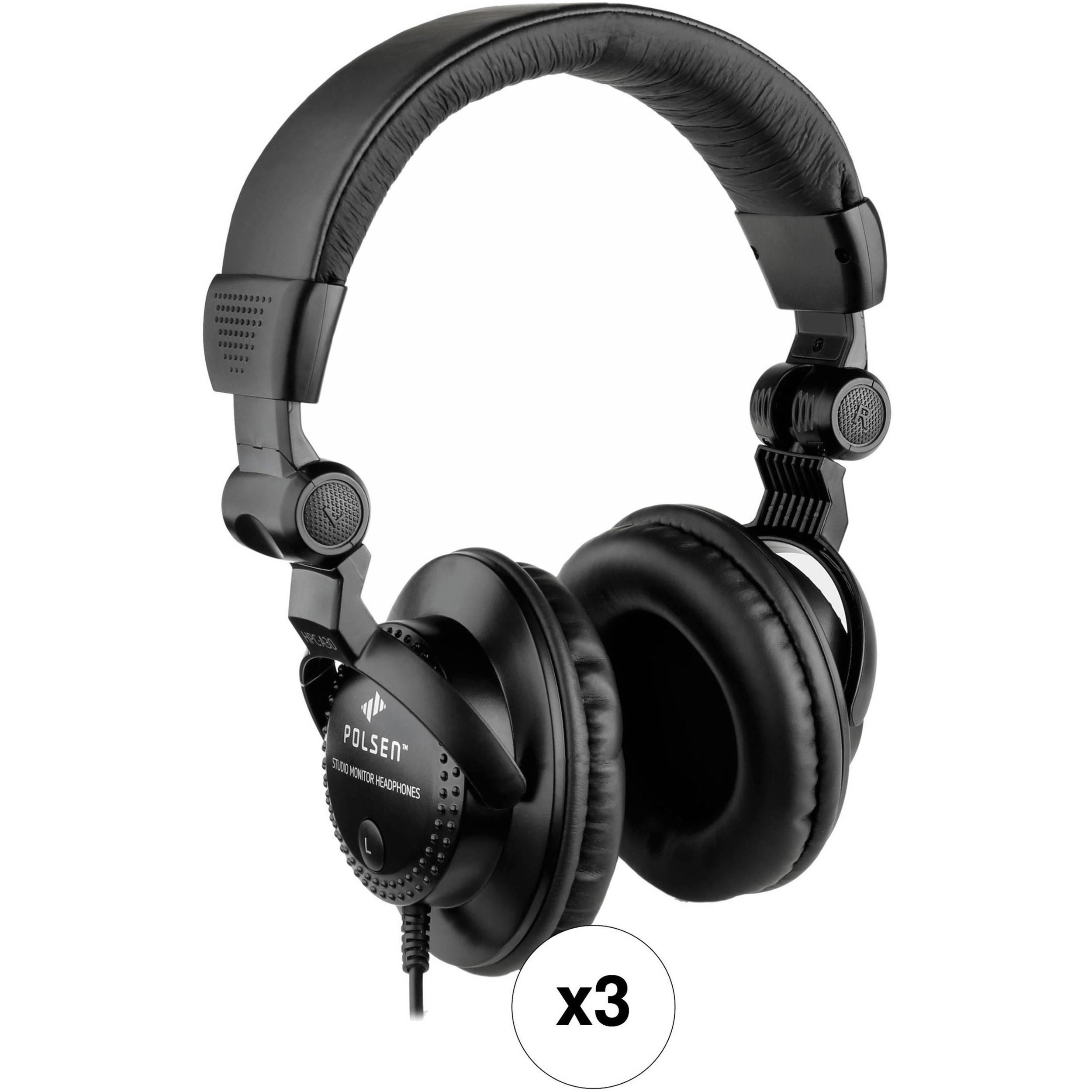polsen hpc a30 closed back studio monitor headphones hpc a30k. Black Bedroom Furniture Sets. Home Design Ideas