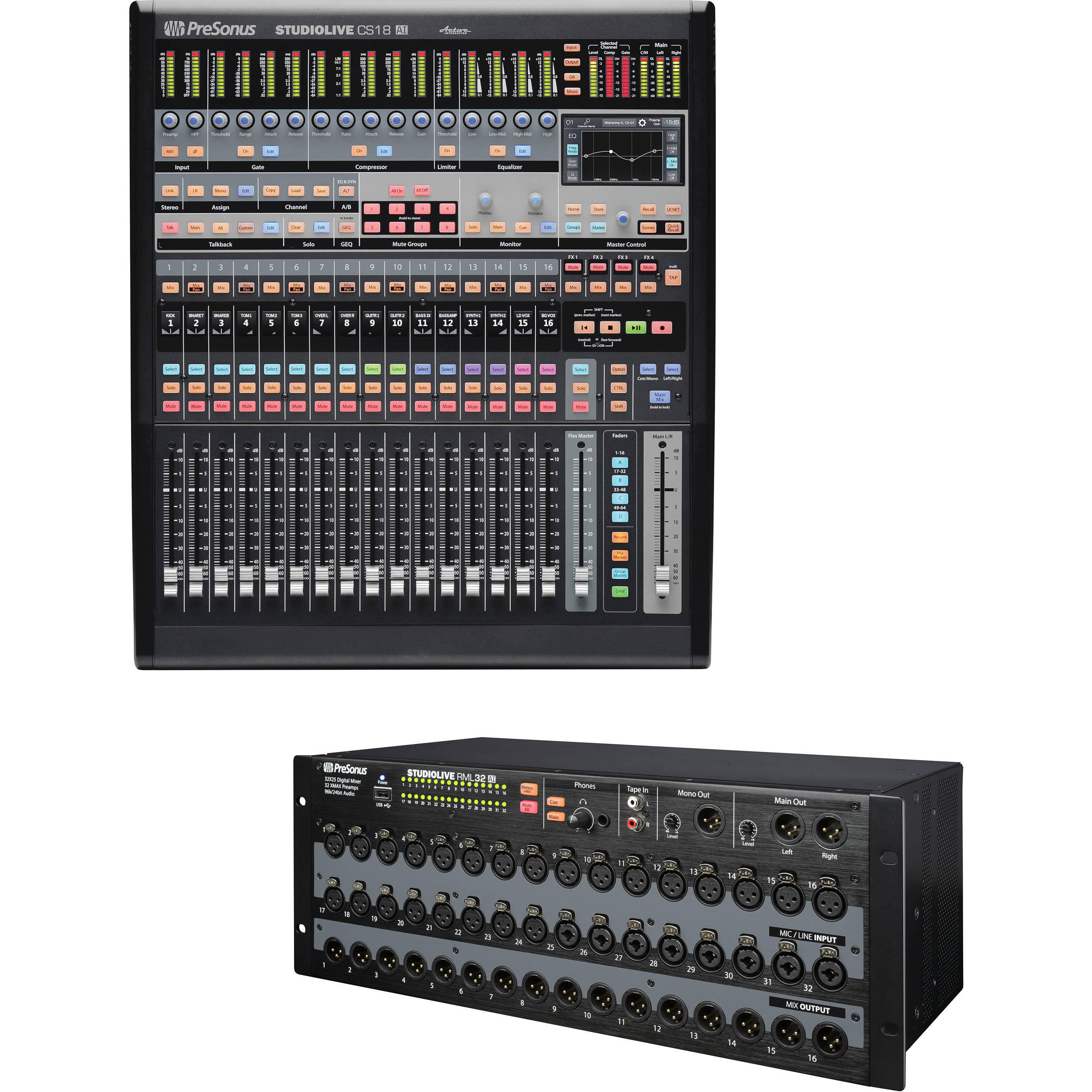 Presonus Control Surface : presonus rml32ai mixer kit with cs18ai control surface b h photo ~ Hamham.info Haus und Dekorationen