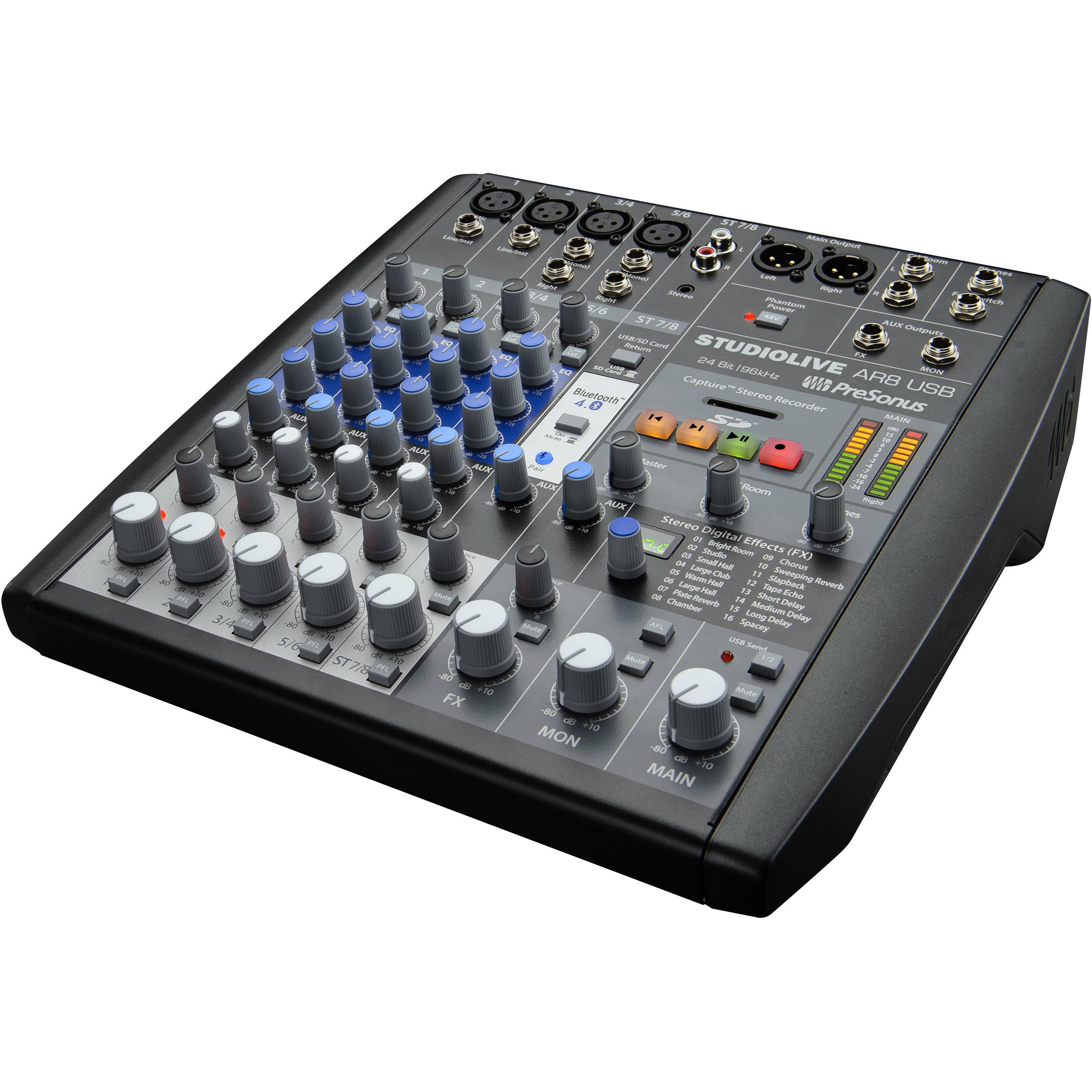 Presonus Studiolive Ar8 Usb 8 Channel Hybrid Performance