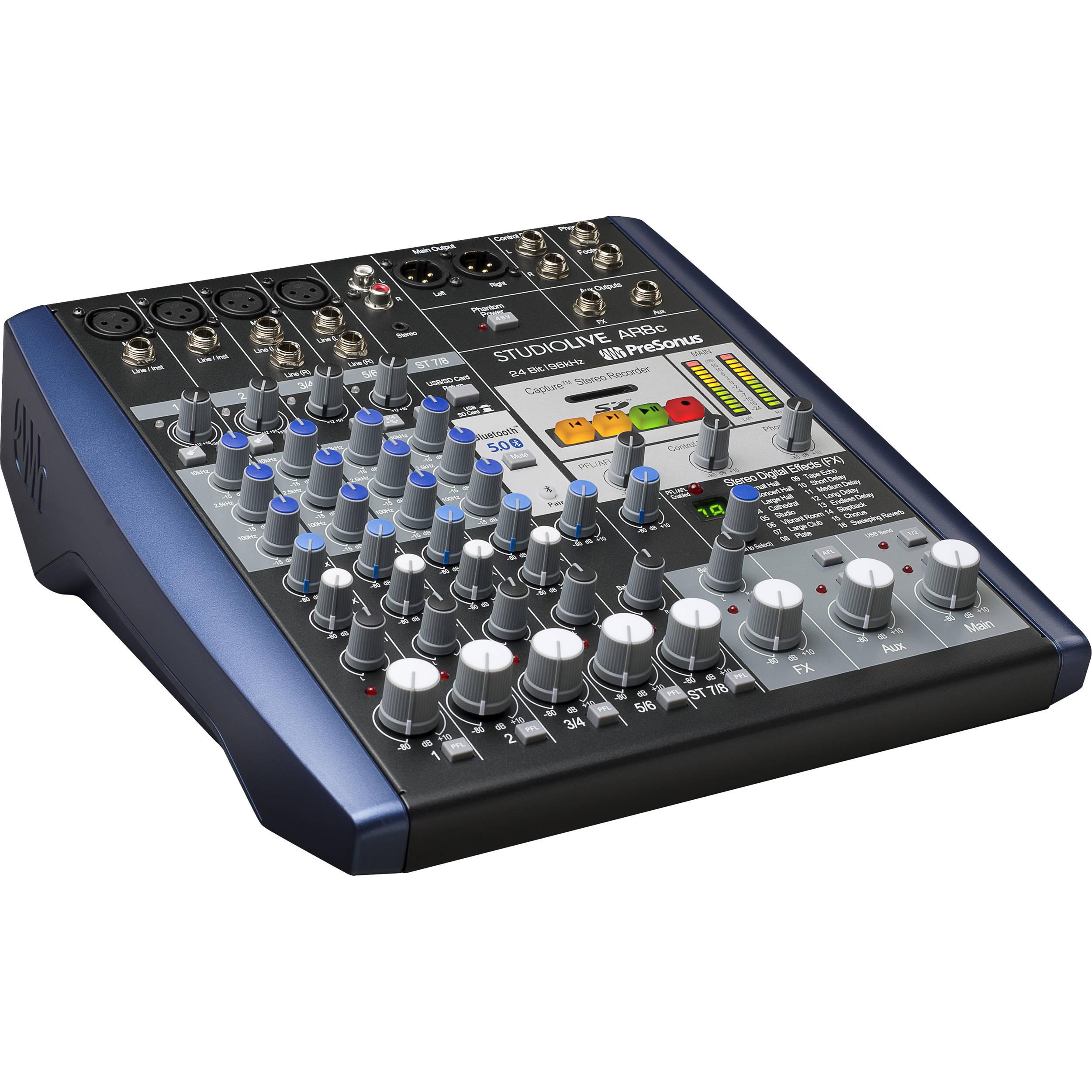 PreSonus StudioLive AR8c USB Type-C 8-Channel Hybrid SLMAR8C B&H
