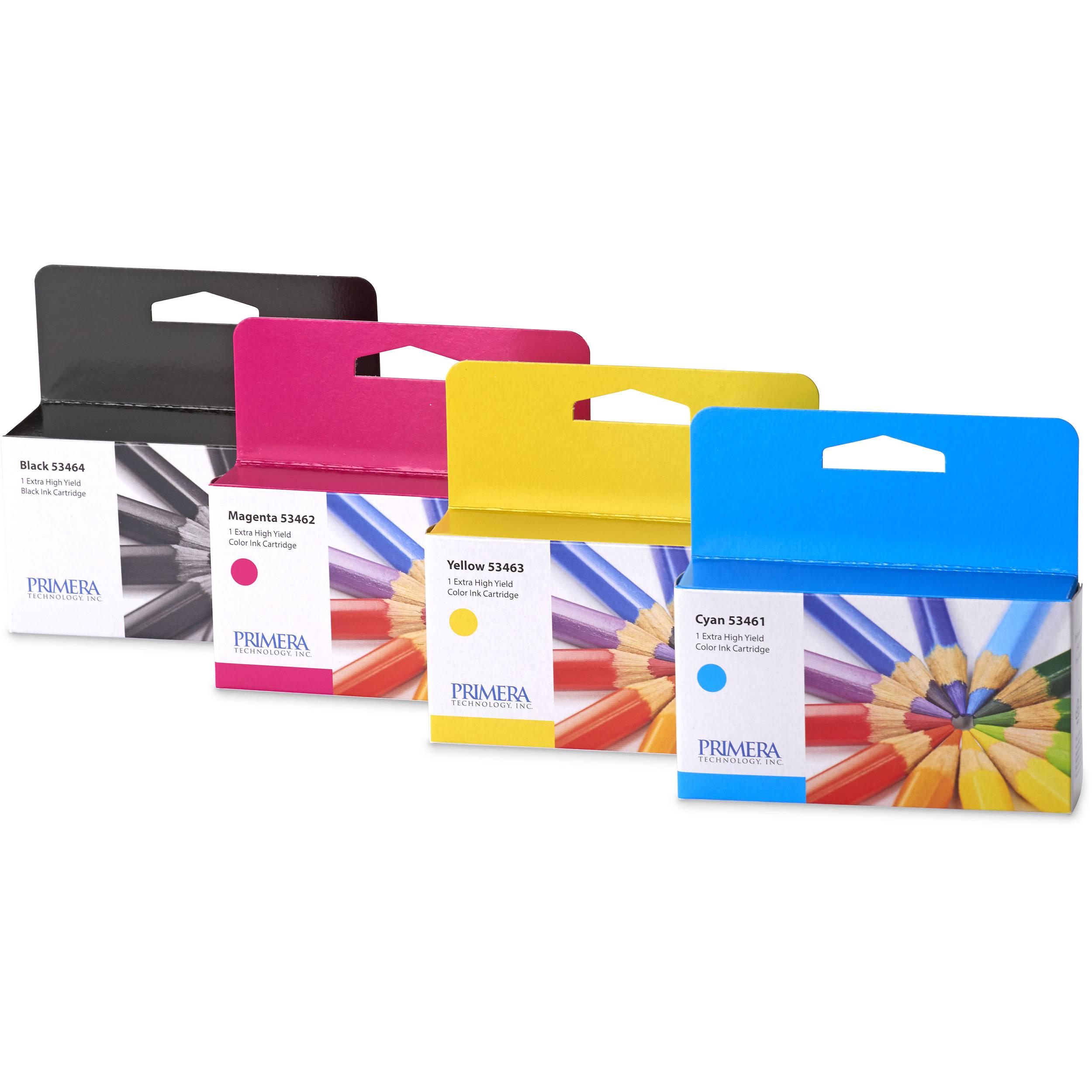 Color printer label - Primera Multi Pack Of Ink Cartridges For Lx2000 Color Label Printer