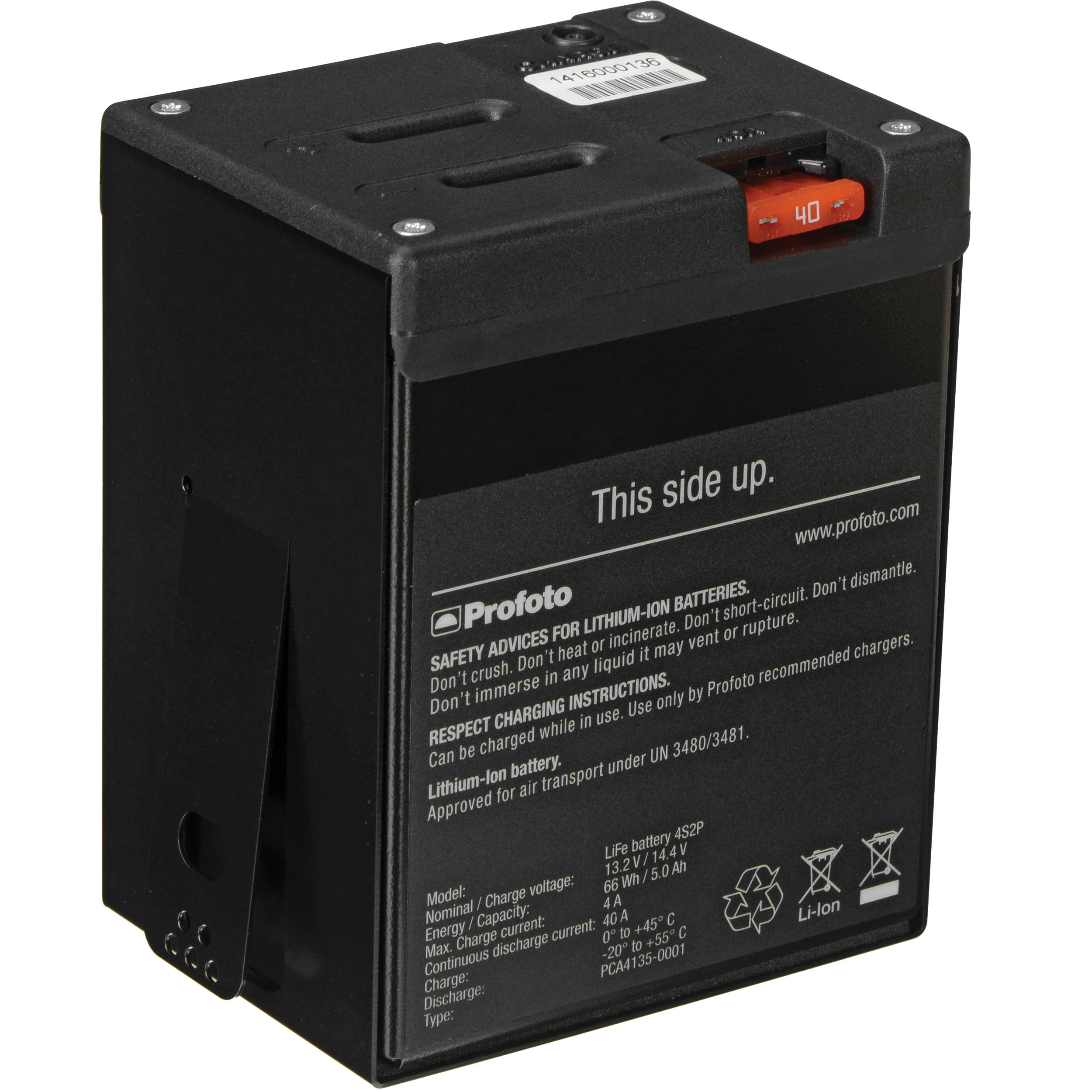 profoto life lithium ion battery for acute b2 600 airs 901106. Black Bedroom Furniture Sets. Home Design Ideas