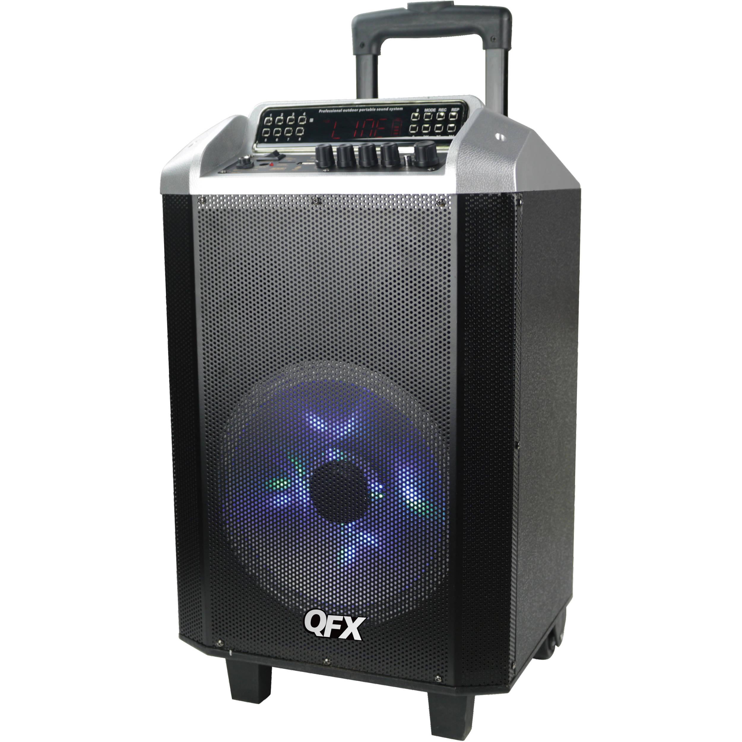"QFX 10"" Bluetooth Portable Party Speaker System PBX-2101SLV"