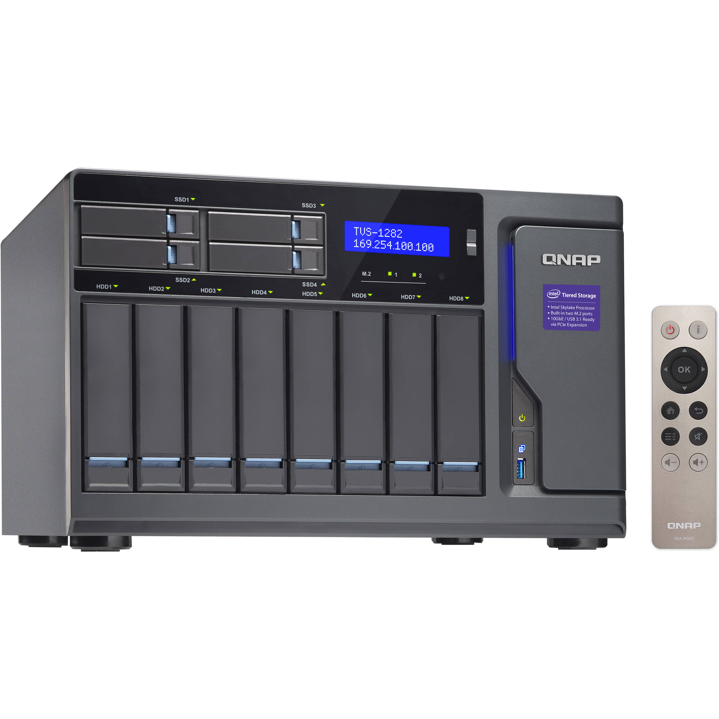 qnap tvs 1282t 12 bay nas enclosure tvs 1282t i7 64g us b h. Black Bedroom Furniture Sets. Home Design Ideas