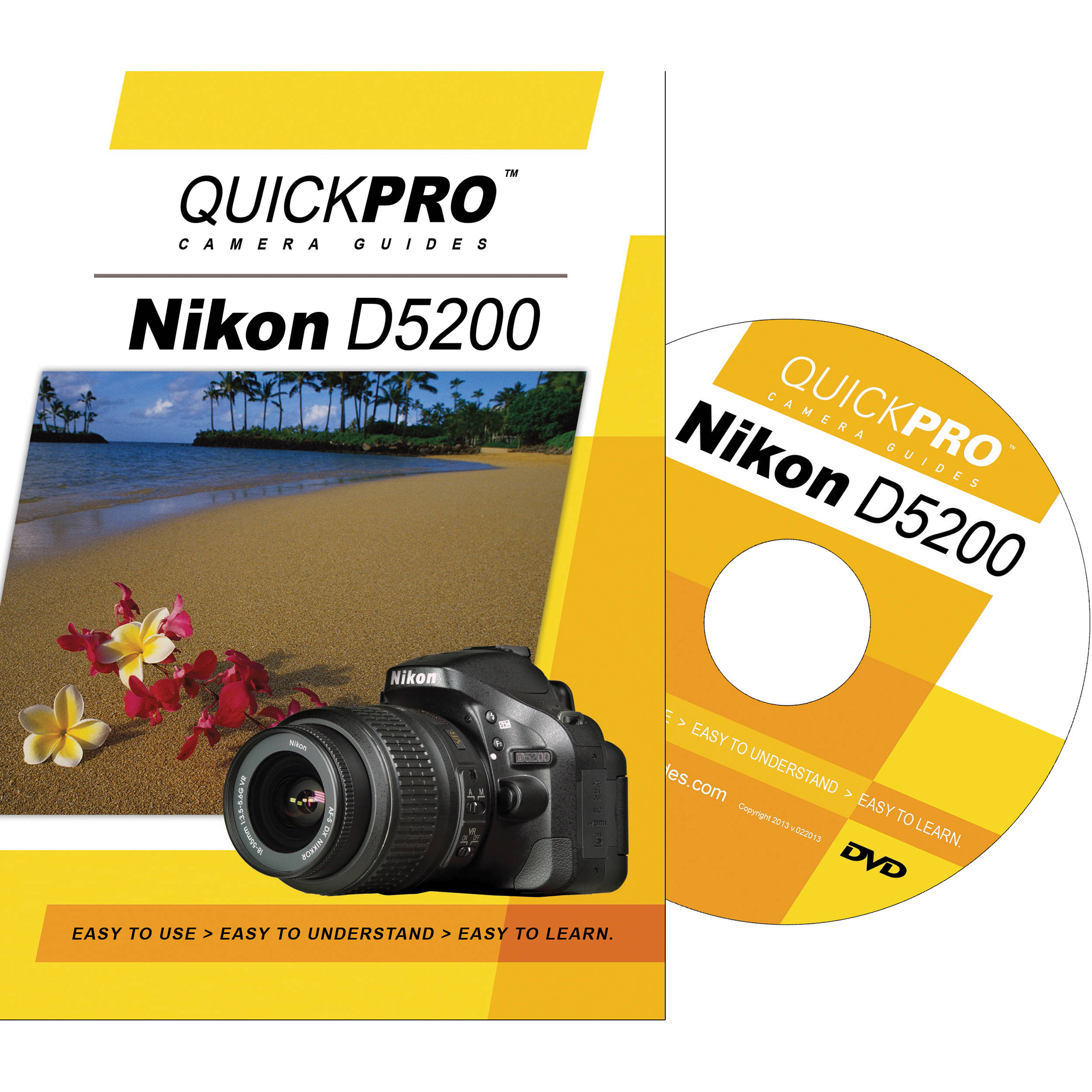 QuickPro DVD: Nikon D5200 Instructional Camera Guide