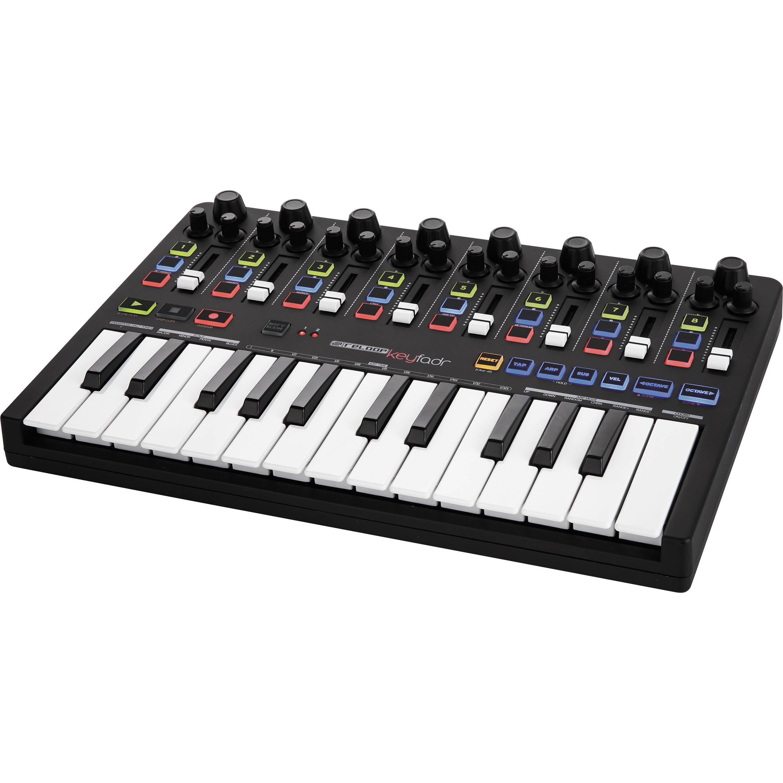 Keyboard Workstation Vs Midi Controller : reloop keyfadr ableton performance usb powered midi keyfader b h ~ Hamham.info Haus und Dekorationen