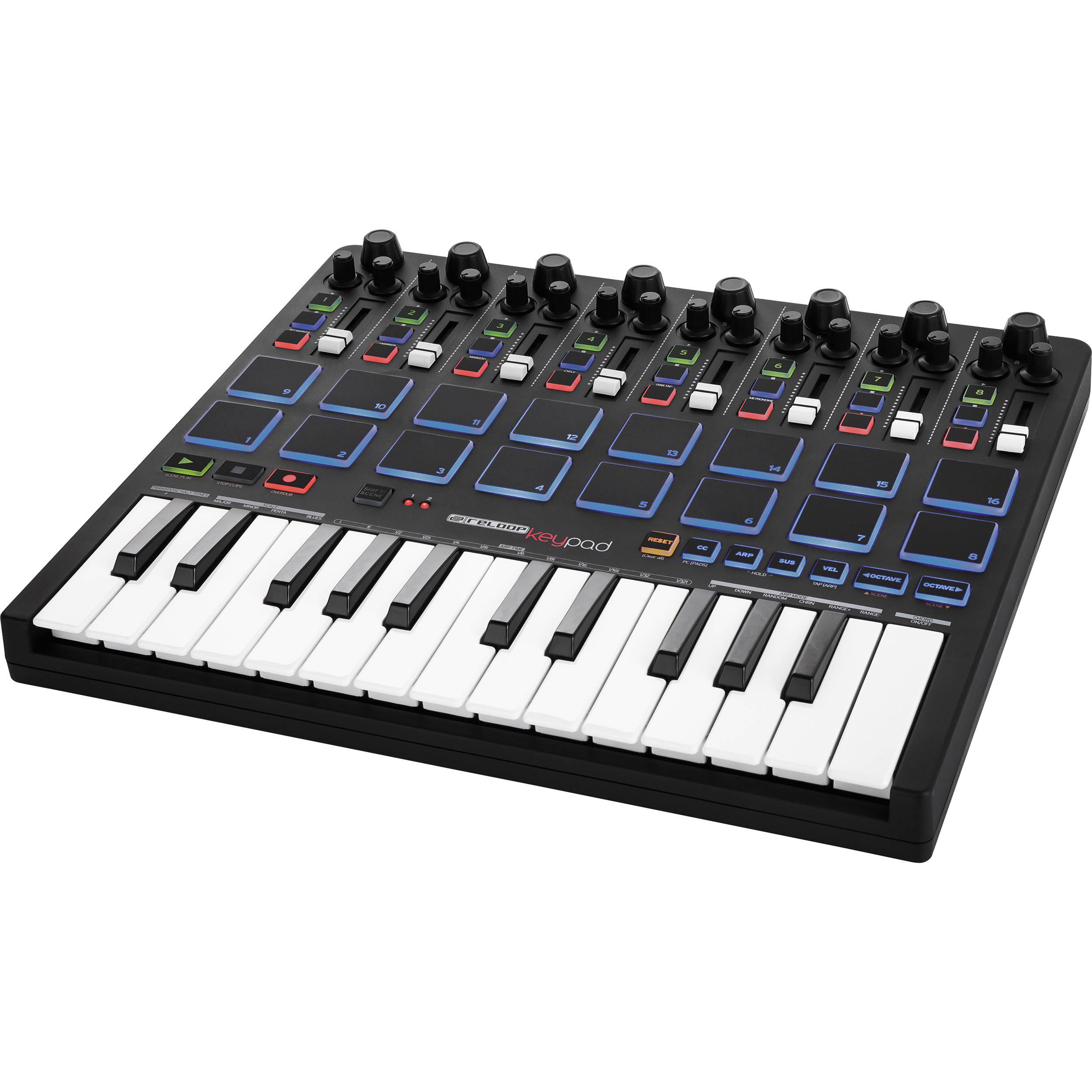 reloop keypad usb midi keyboard for ableton software keypad b h. Black Bedroom Furniture Sets. Home Design Ideas
