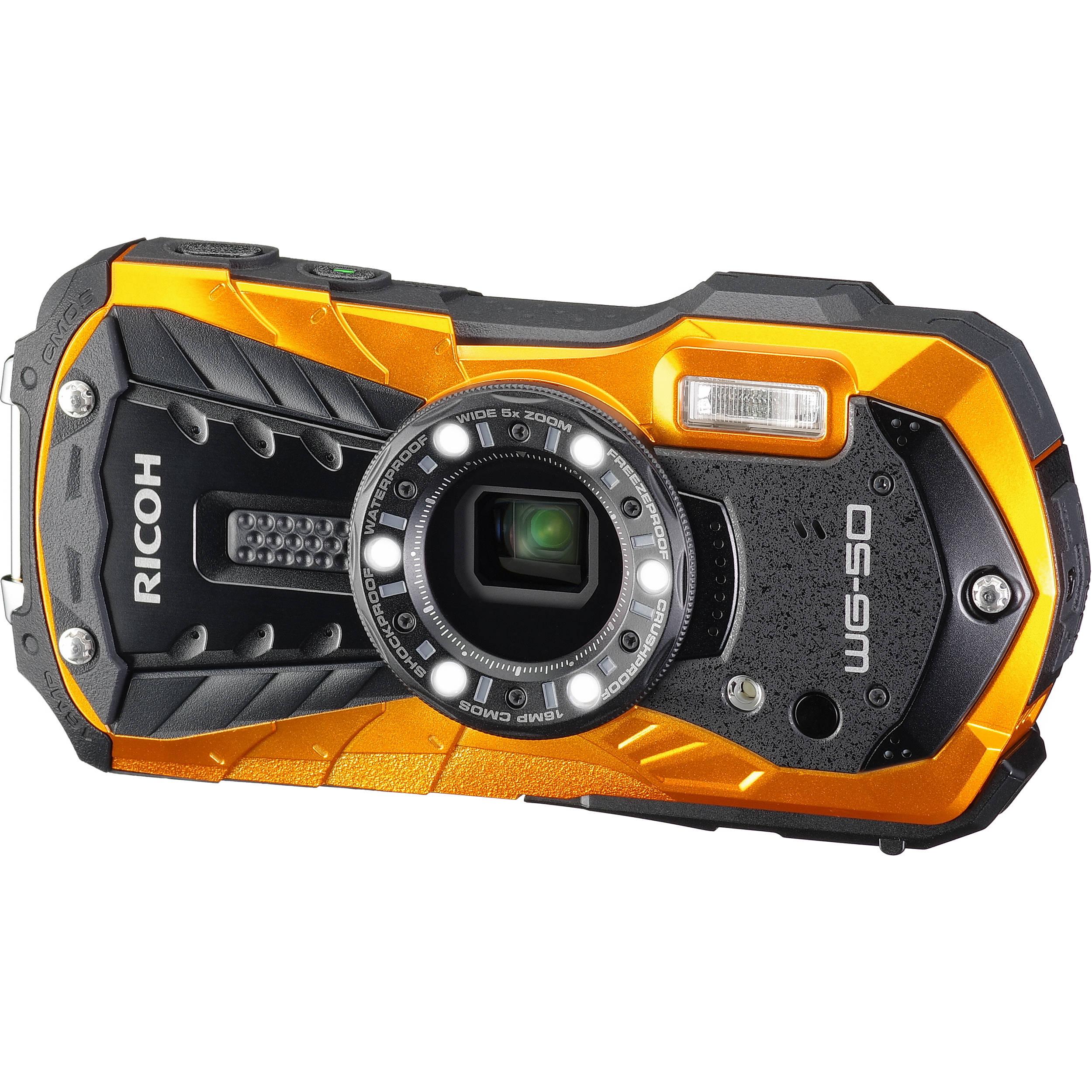 Ricoh Wg 50 Digital Camera Orange 04583 B Amp H Photo Video