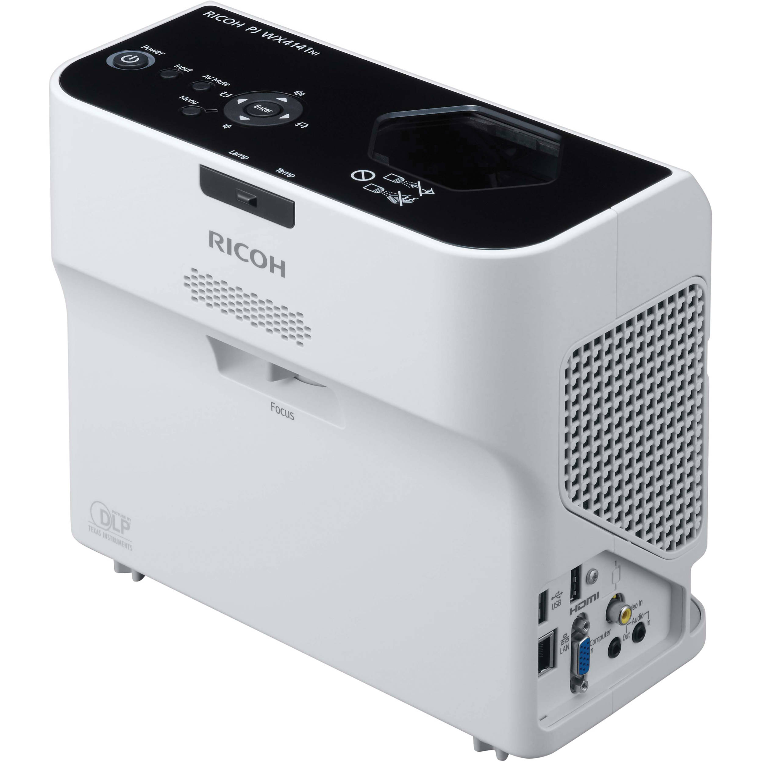 Ricoh pj wx4141n portable ultra short throw dlp pjwx4141n b h for Dlp portable projector