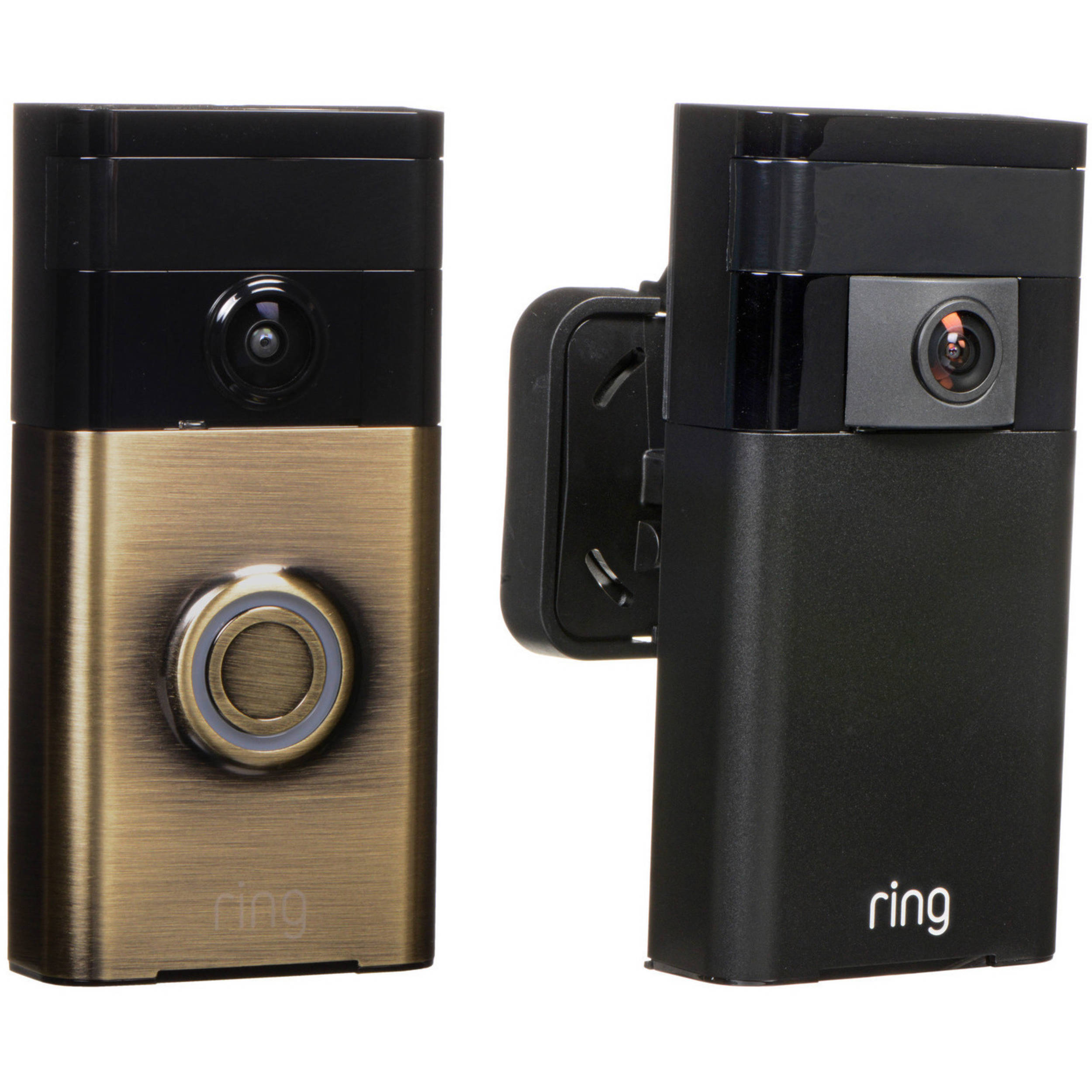 Ring Video Doorbell With Stick Up Camera Kit Antique