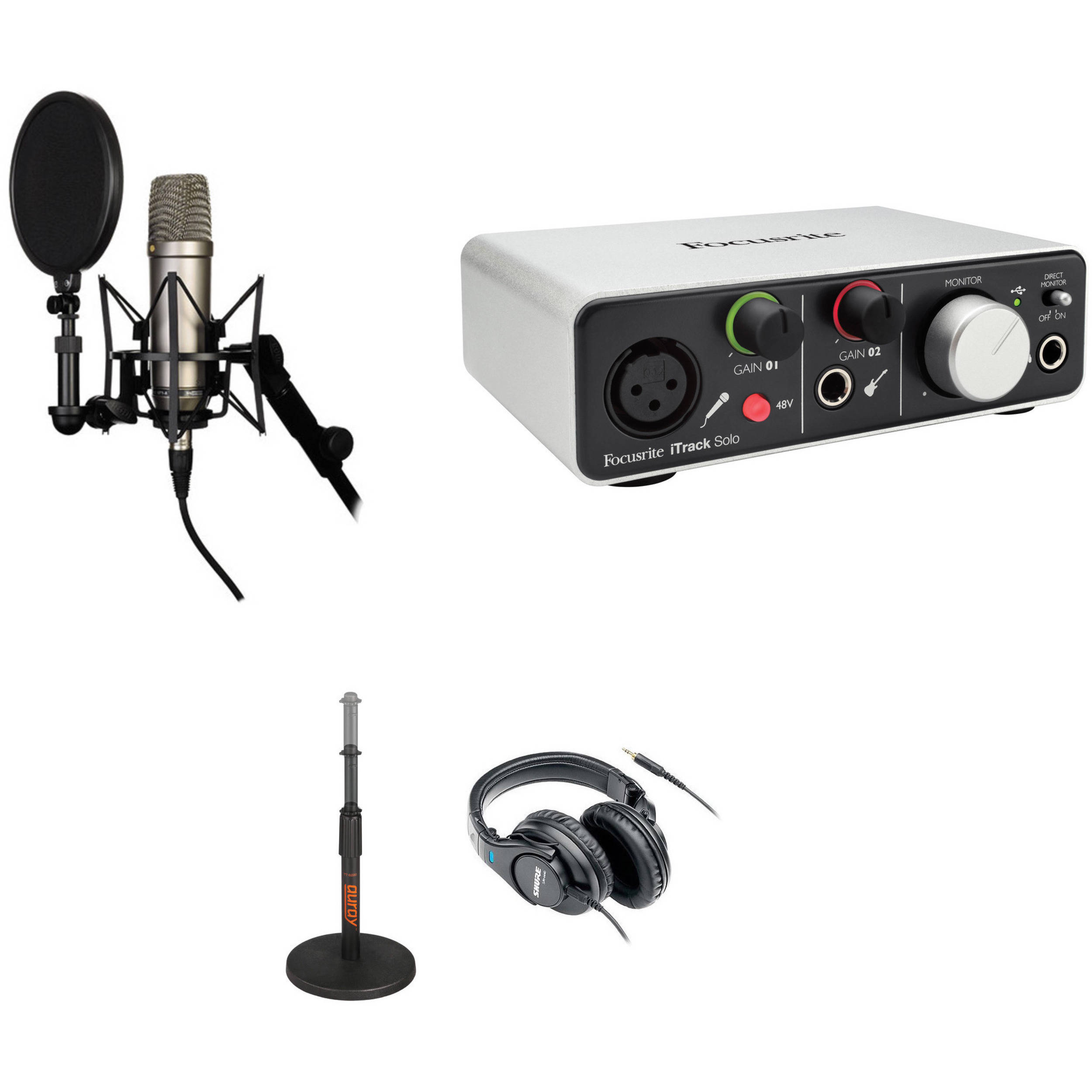 Rode NT1-A Recording Studio Kit with USB   iOS Lightning Audio Interface 838b695d5c74