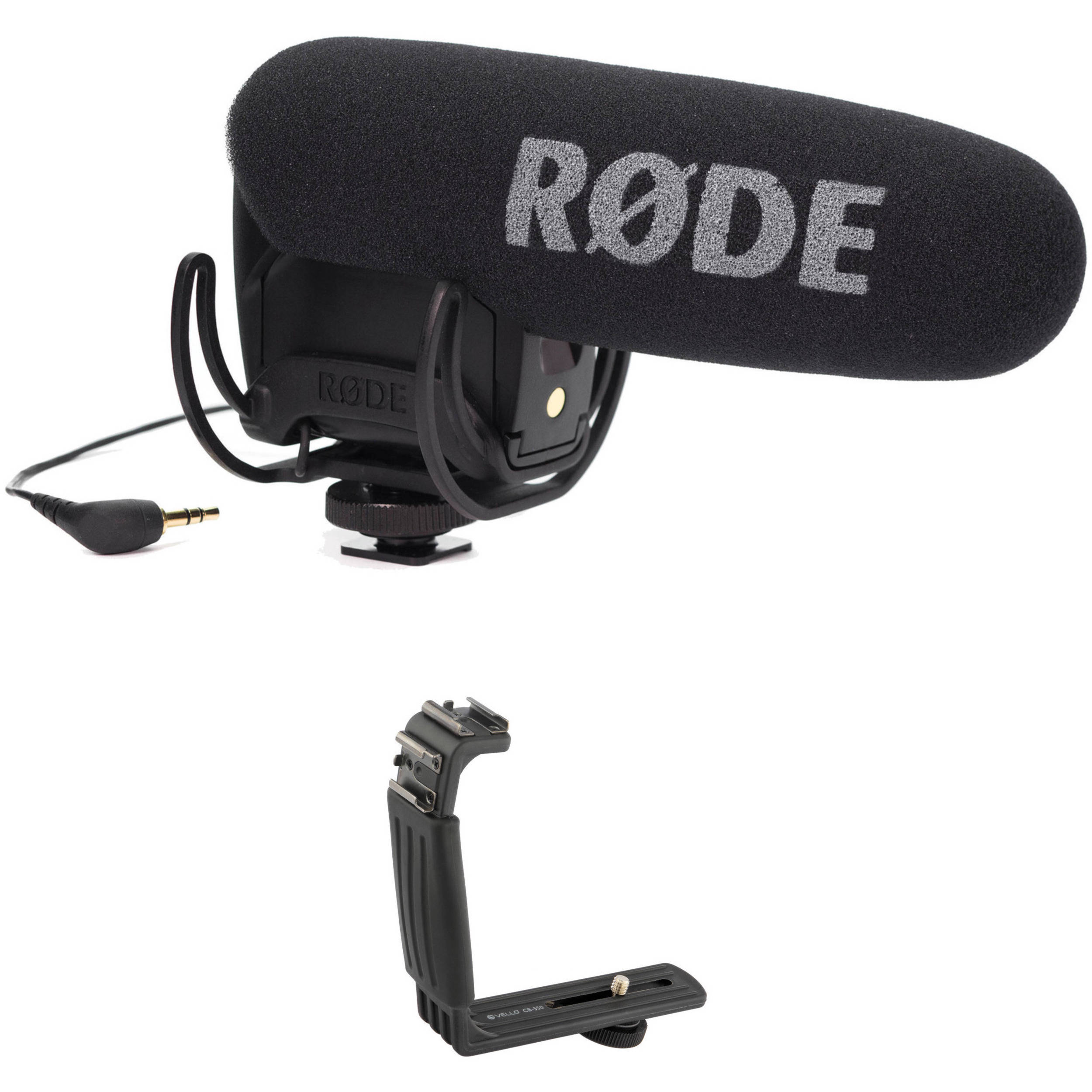 rode videomic pro with rycote lyre shockmount and dual shoe b h. Black Bedroom Furniture Sets. Home Design Ideas
