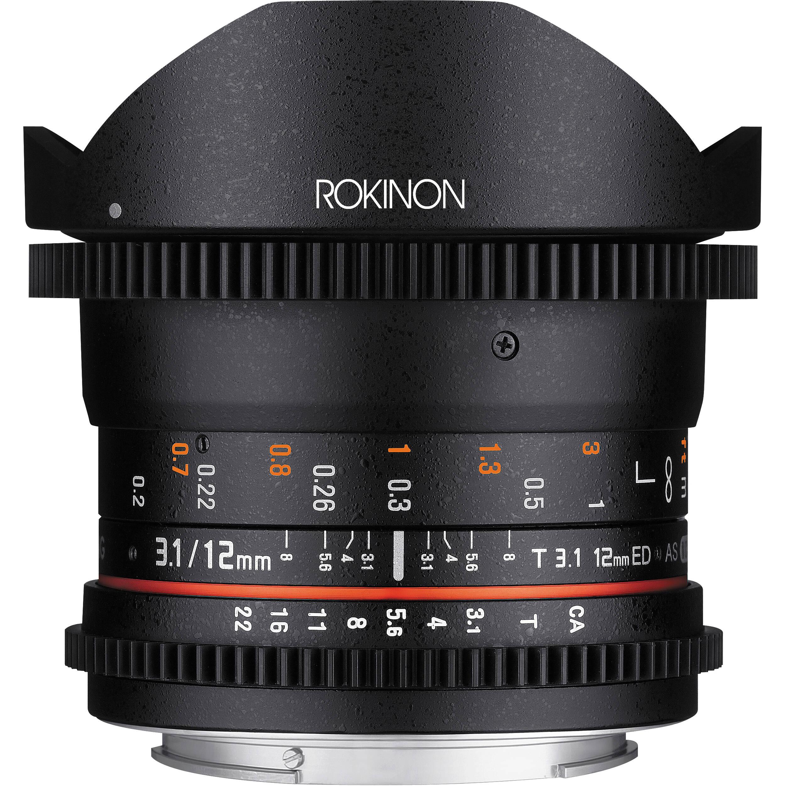 Rokinon 12mm T3 1 Ed As If Ncs Umc Cine Ds Fisheye Lens