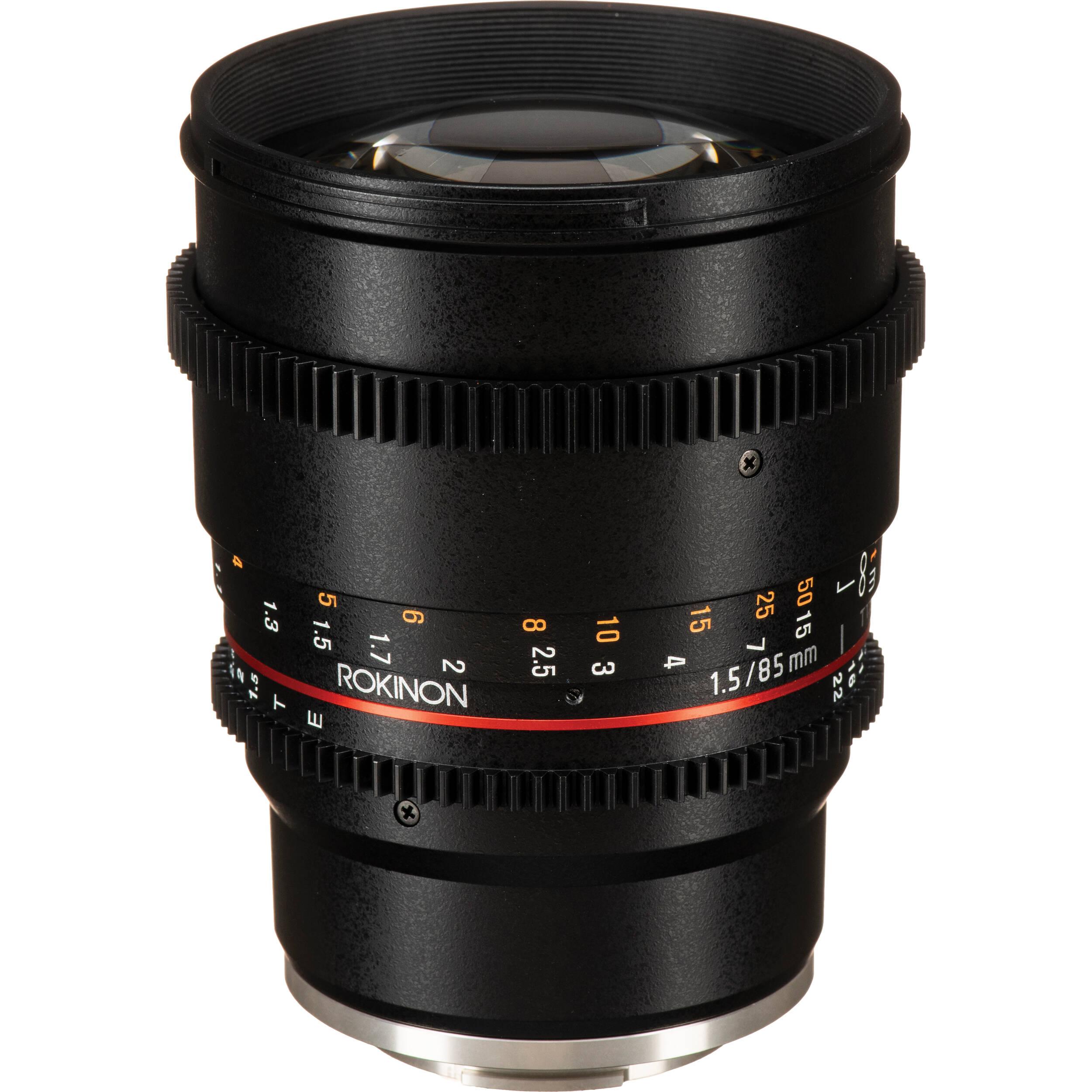 Rokinon 85mm T1 5 Cine Ds Lens For Sony E Mount Ds85m Nex B Amp H