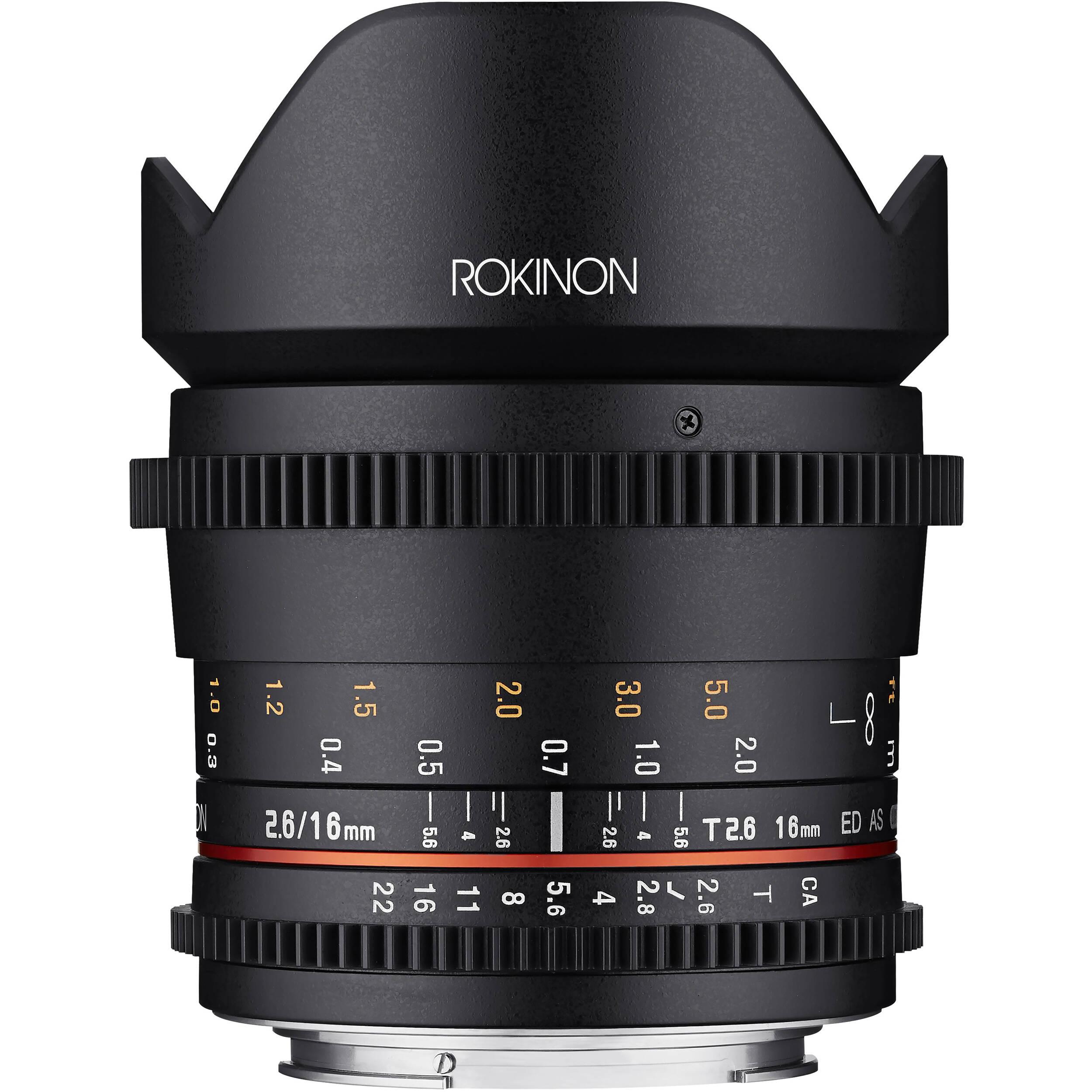 Rokinon 16mm T2.6 Full Frame Cine DS Lens FFDS16M-C B&H Photo