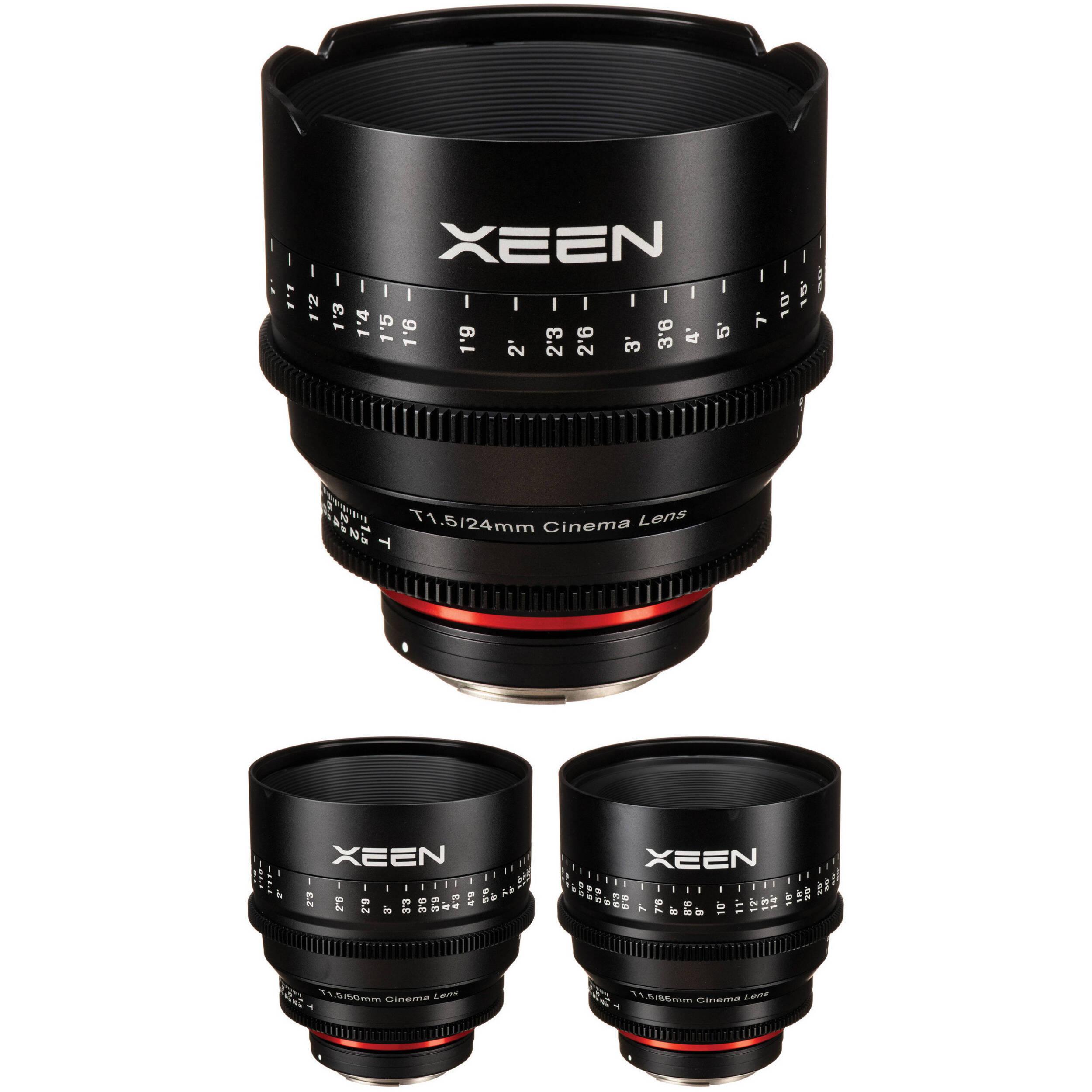 Rokinon Xeen 24 50 85mm T1 5 Lenses For Canon Ef Mount B Amp H