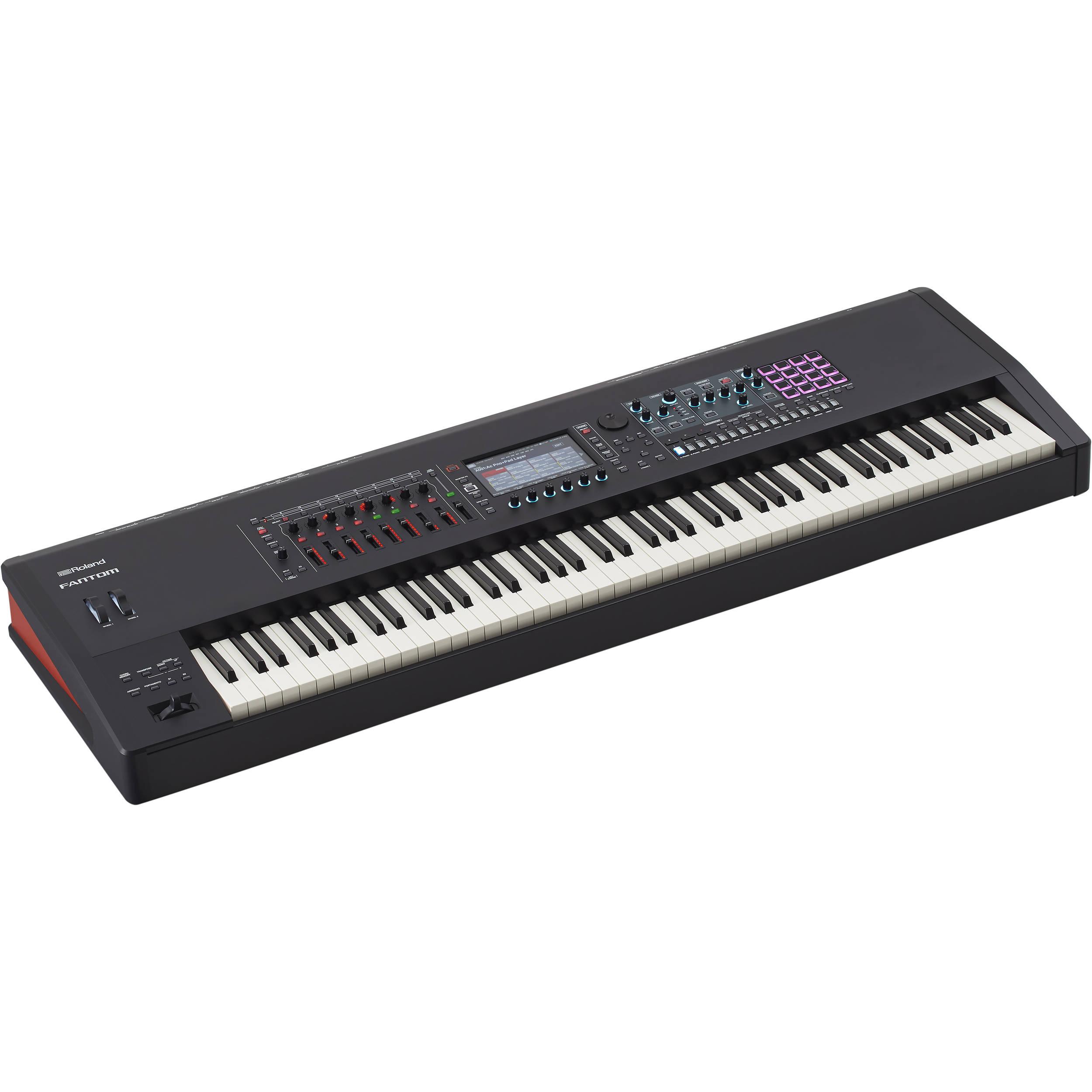 roland fantom 8 88 note workstation keyboard fantom 8 b h photo. Black Bedroom Furniture Sets. Home Design Ideas