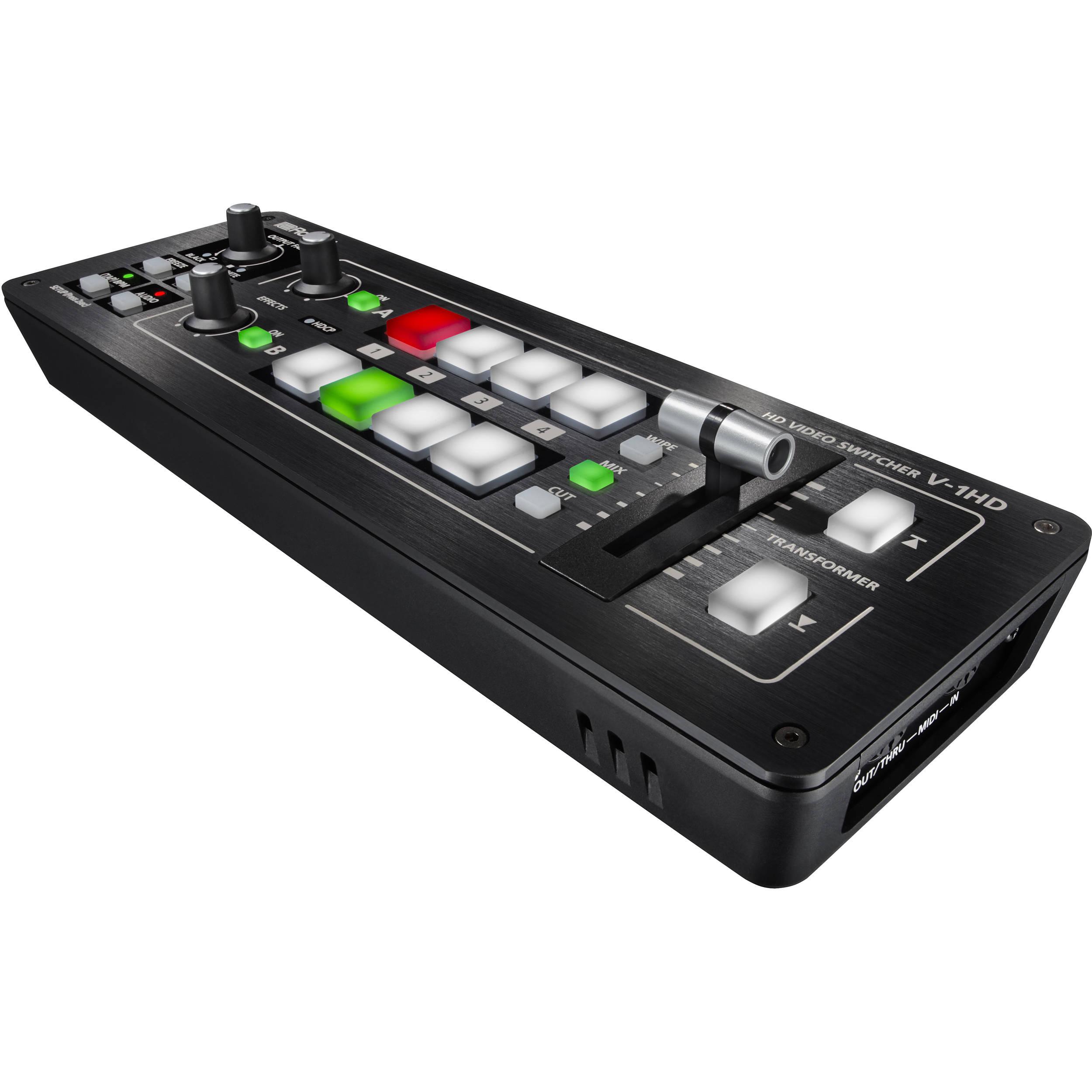 Roland V 1hd Portable 4 X Hdmi Input Switcher V 1hd B H Photo