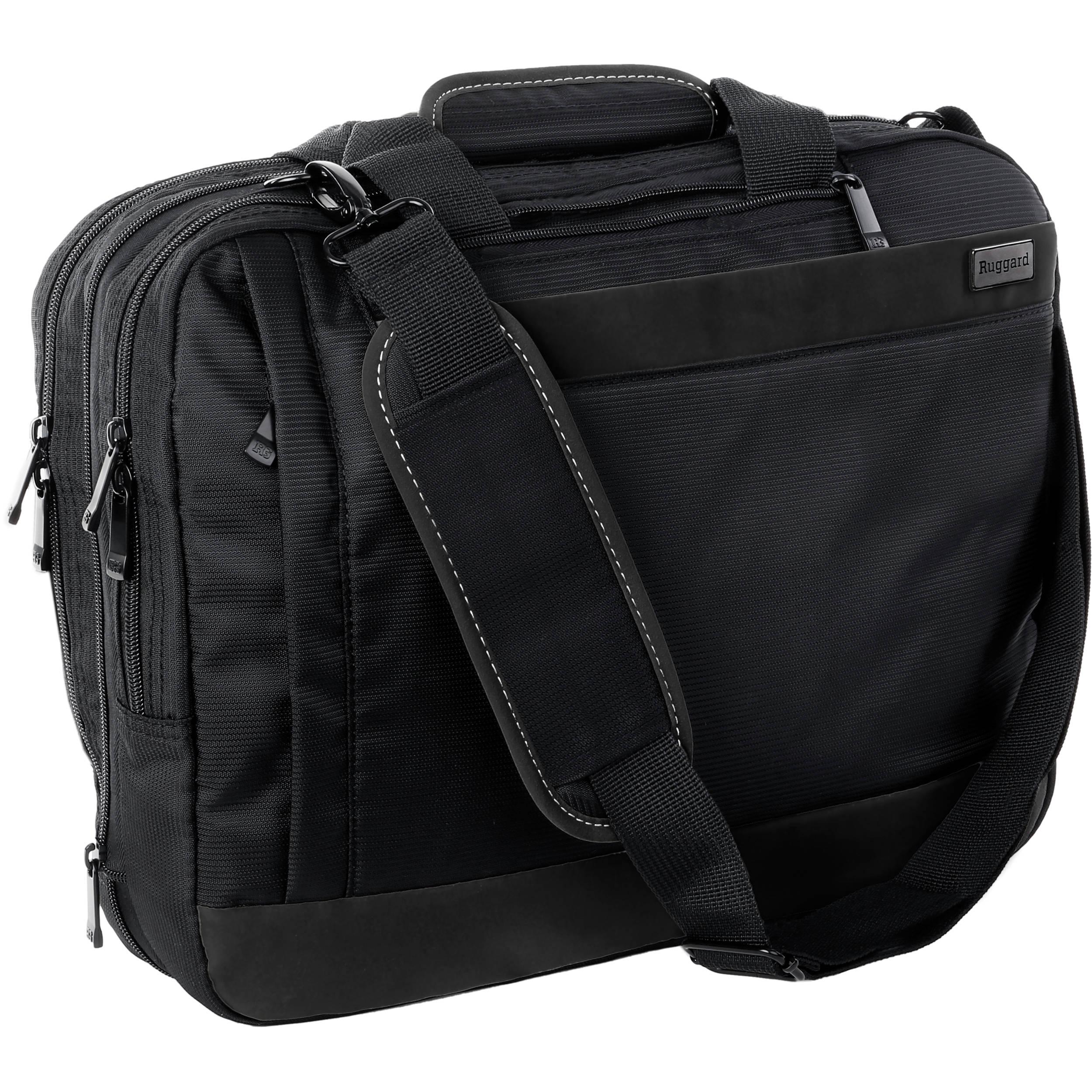 Ruggard Convertible Laptop Case (Black) LBB-102 B&H Photo Video
