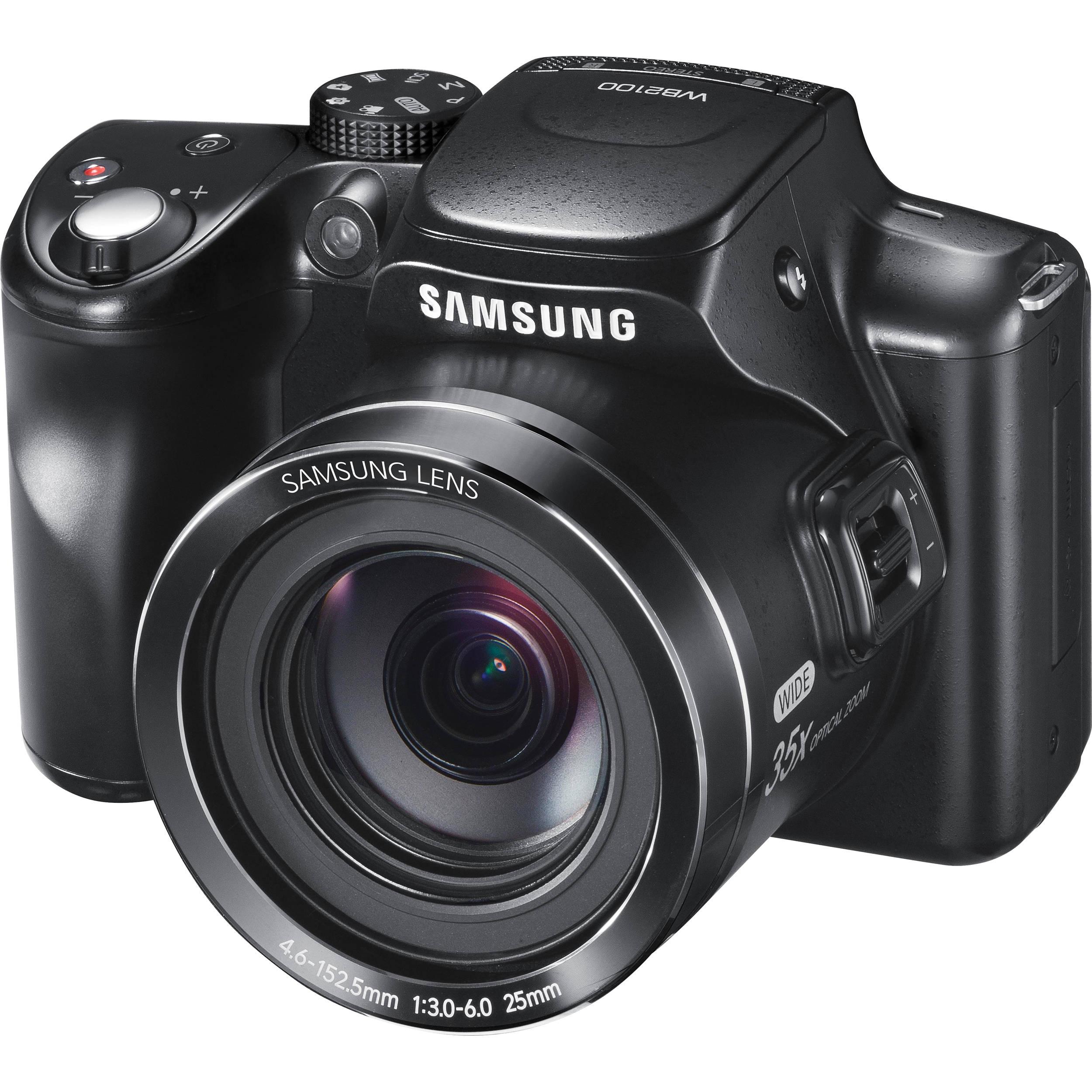 Samsung WB2100 Digital Camera (Cobalt Black) EC ...