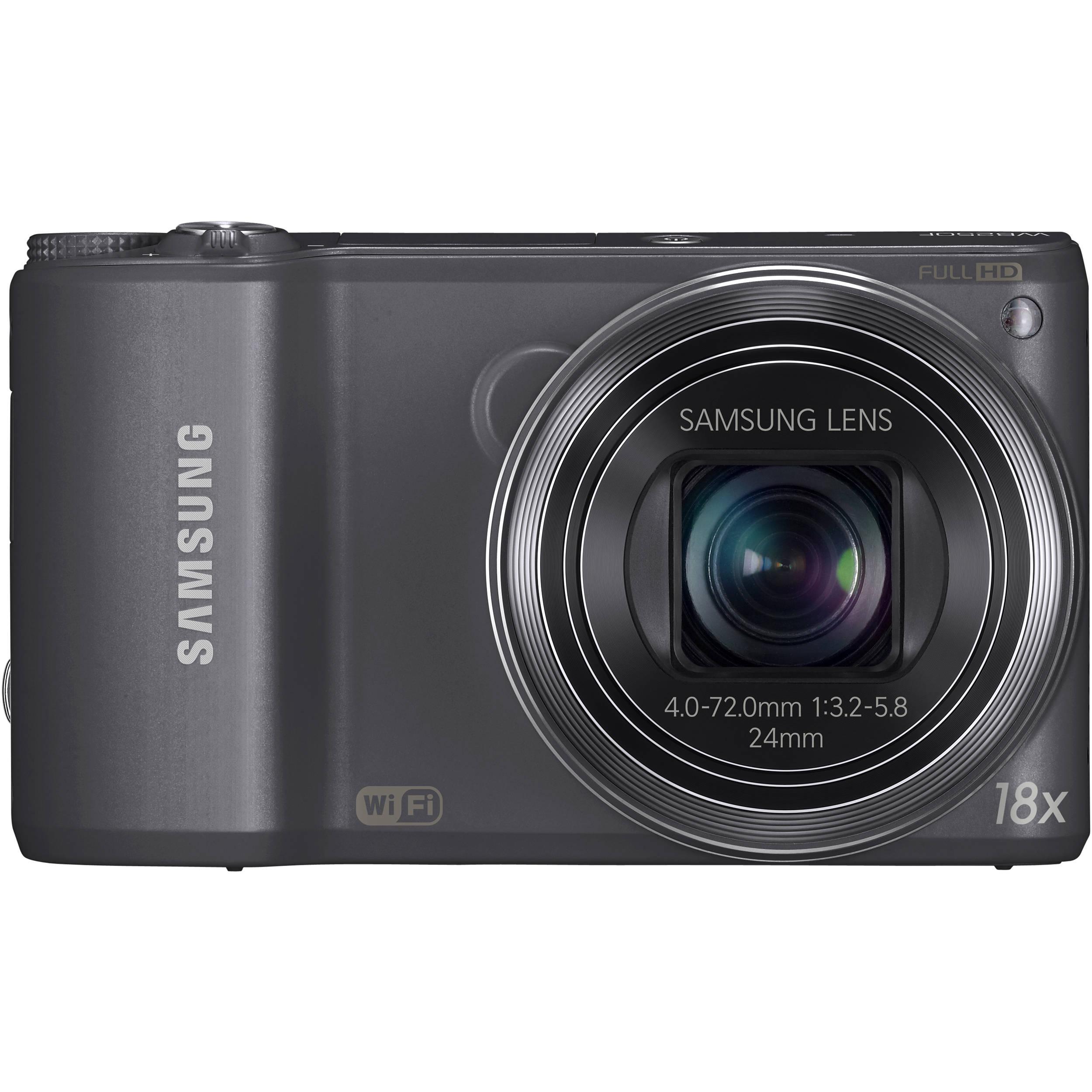 samsung wb250f smart digital camera  gun metal  ec